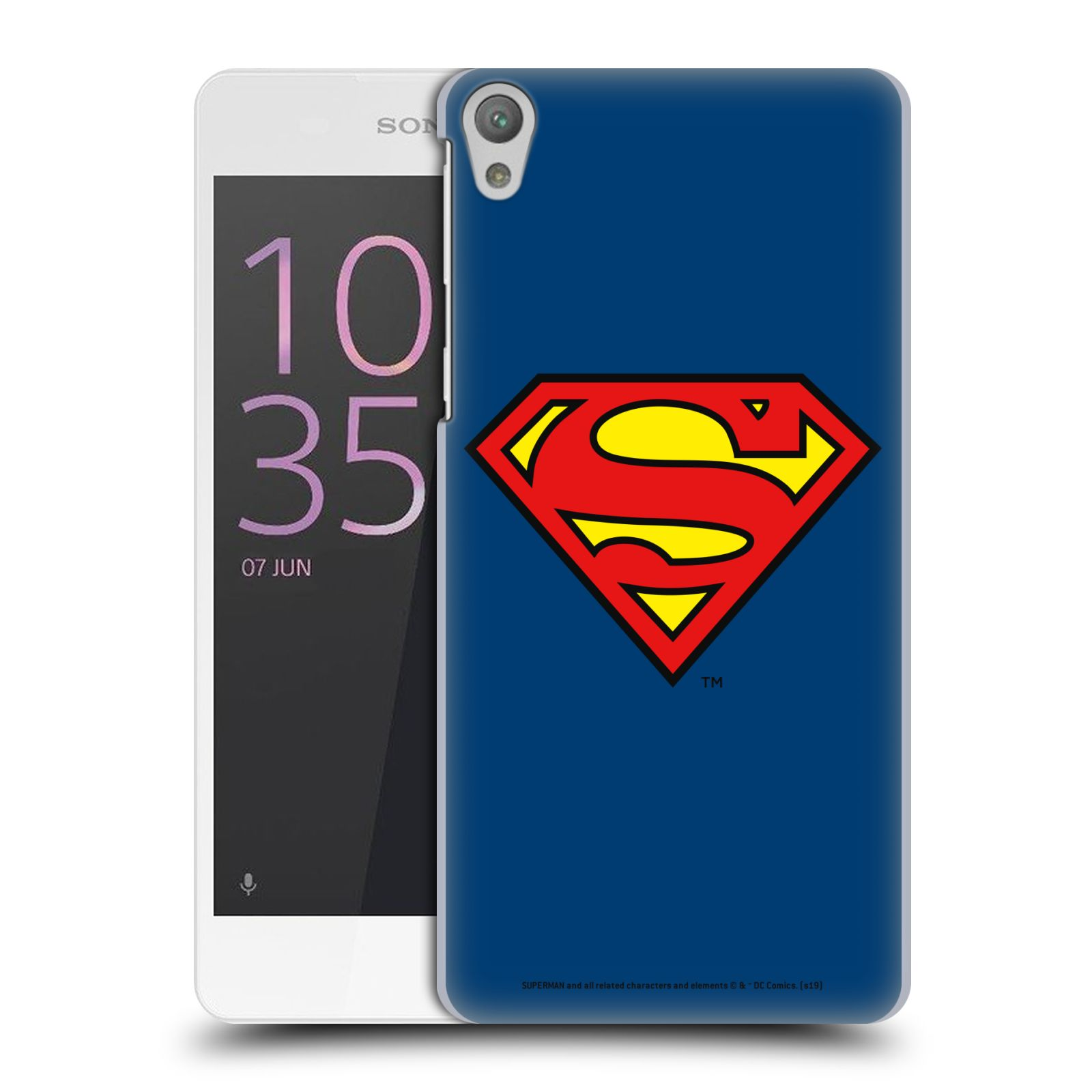 Pouzdro na mobil Sony Xperia E5 - HEAD CASE - DC komix Superman