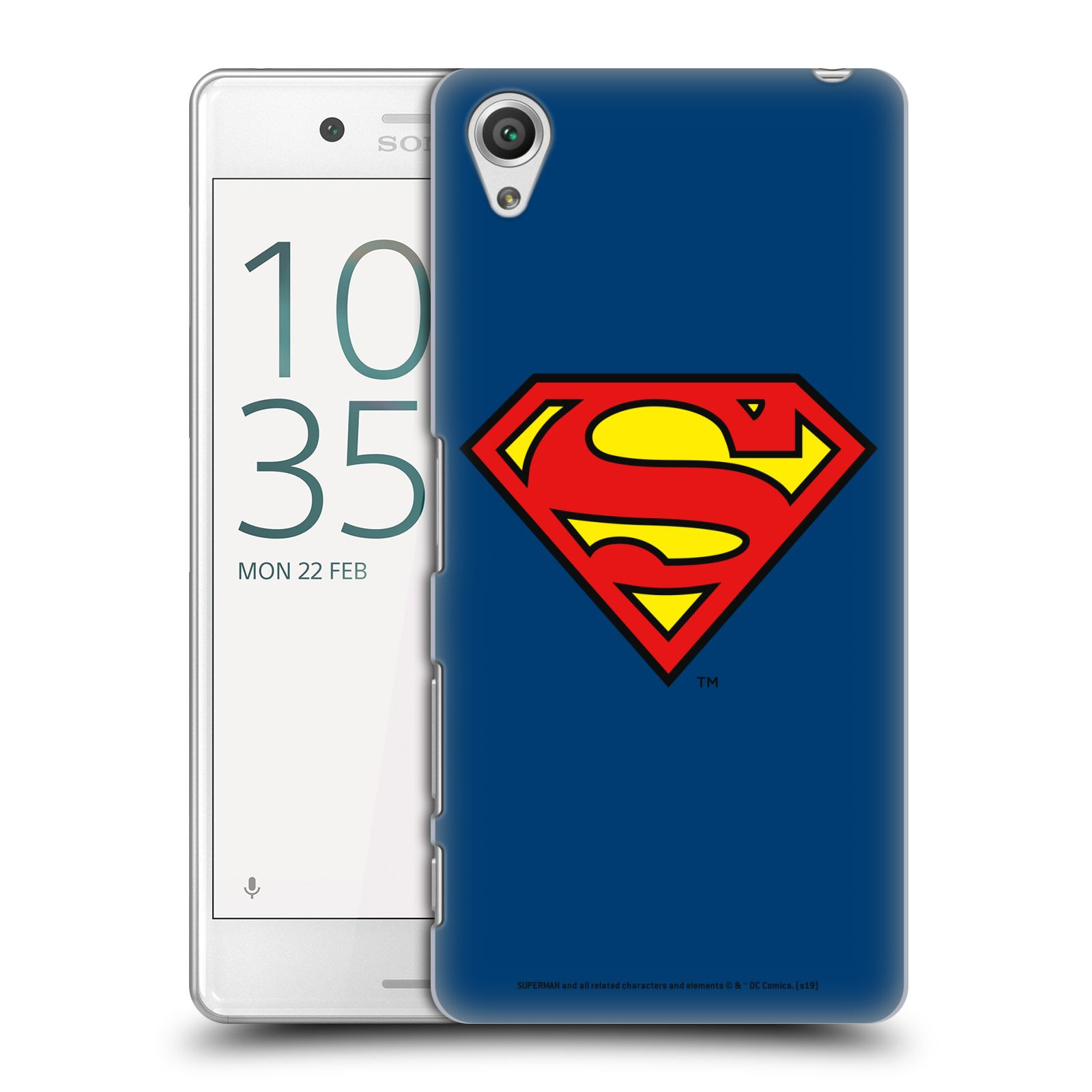 Pouzdro na mobil Sony Xperia X PERFORMANCE - HEAD CASE - DC komix Superman
