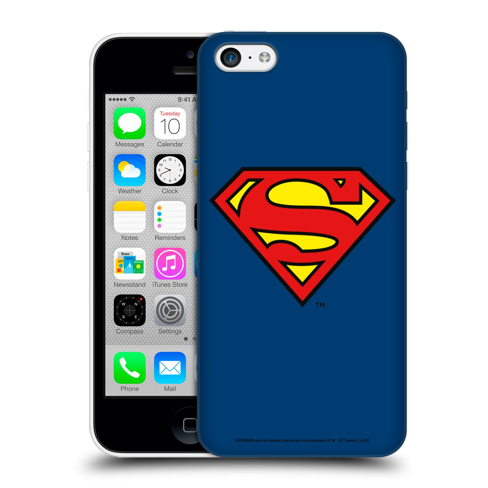 Pouzdro na mobil Apple Iphone 5C - HEAD CASE - DC komix Superman
