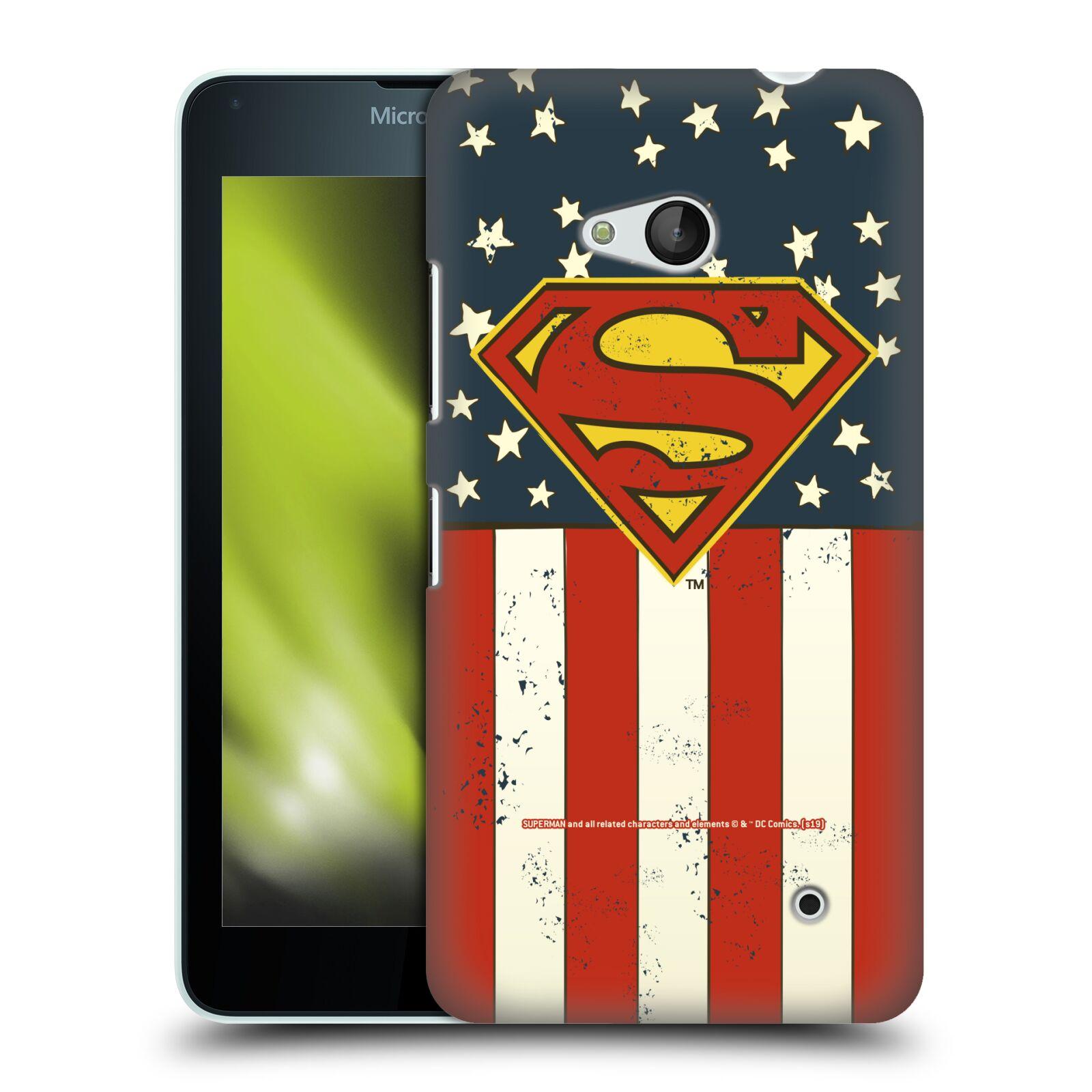 Pouzdro na mobil Microsoft Lumia 640 / 640 DUAL SIM - HEAD CASE - DC komix Superman Americká vlajka