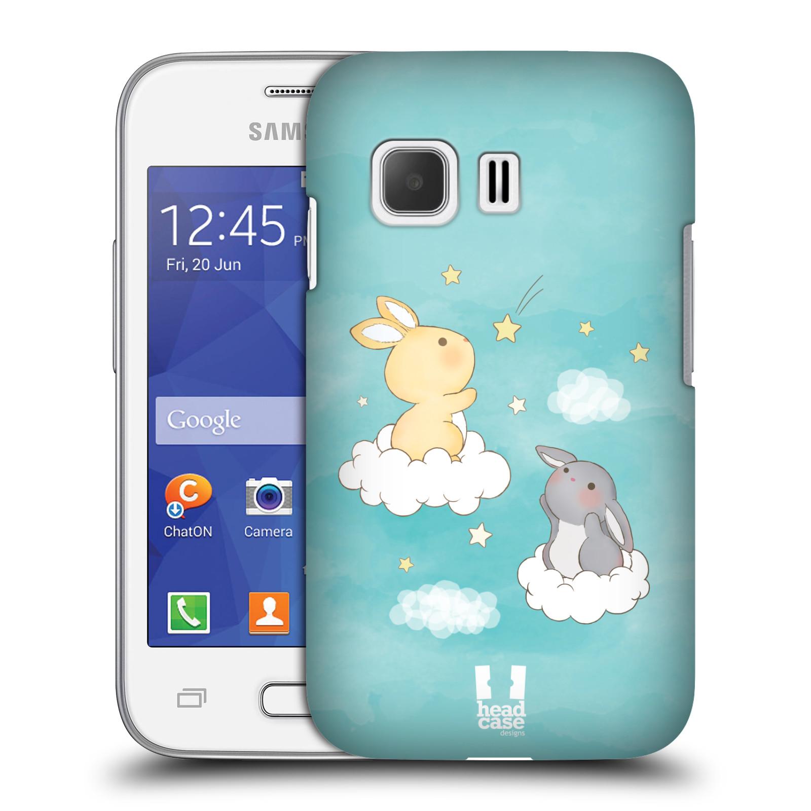 HEAD CASE plastový obal na mobil SAMSUNG Galaxy Young 2 (G130) vzor králíček a hvězdy modrá