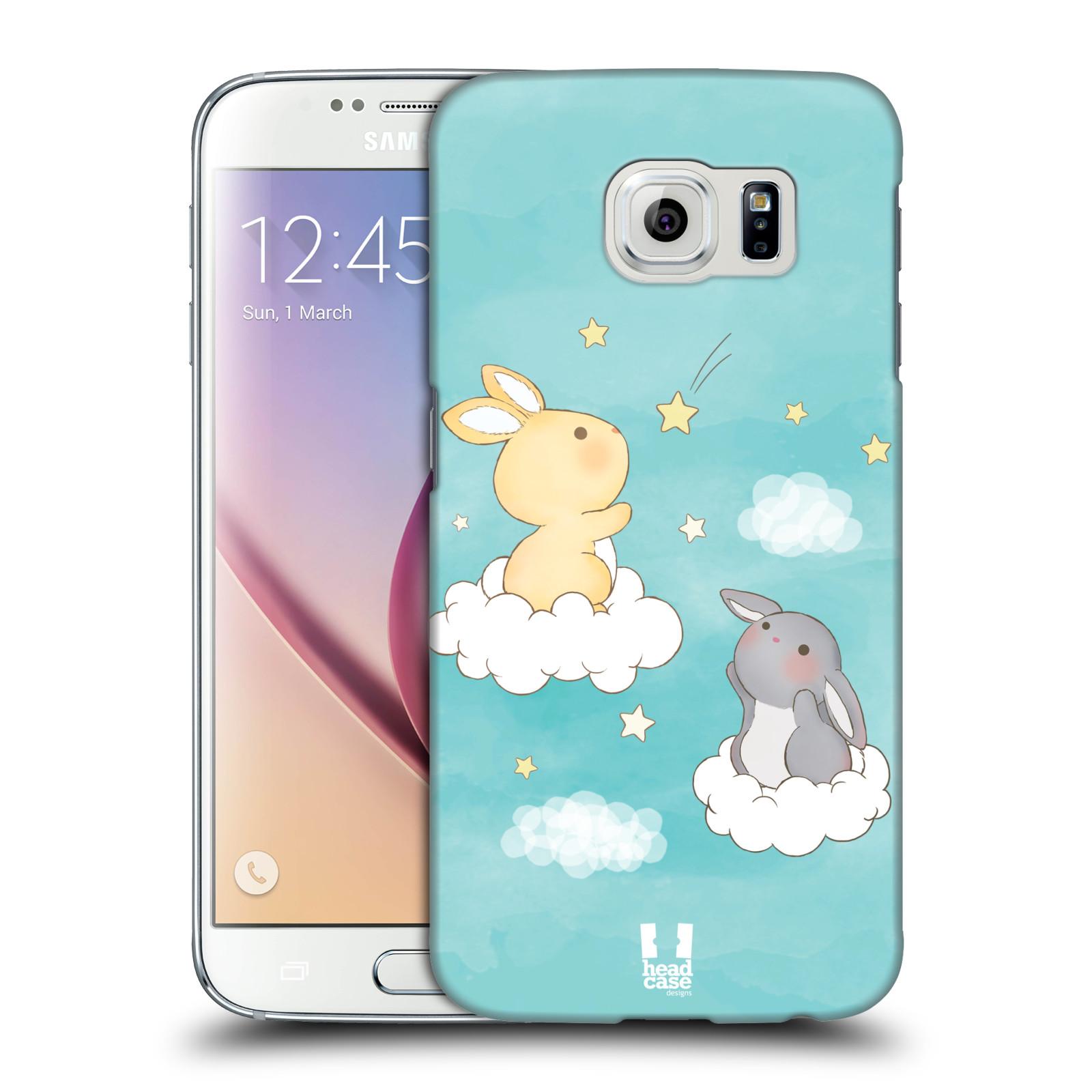 HEAD CASE plastový obal na mobil SAMSUNG Galaxy S6 (G9200, G920F) vzor králíček a hvězdy modrá