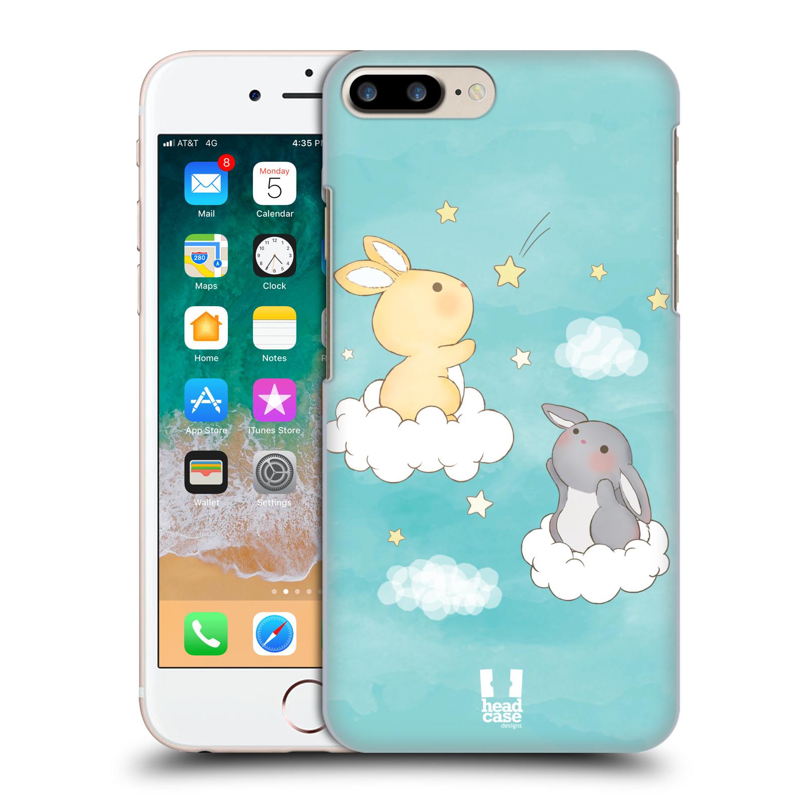 HEAD CASE plastový obal na mobil Apple Iphone 7 PLUS vzor králíček a hvězdy modrá