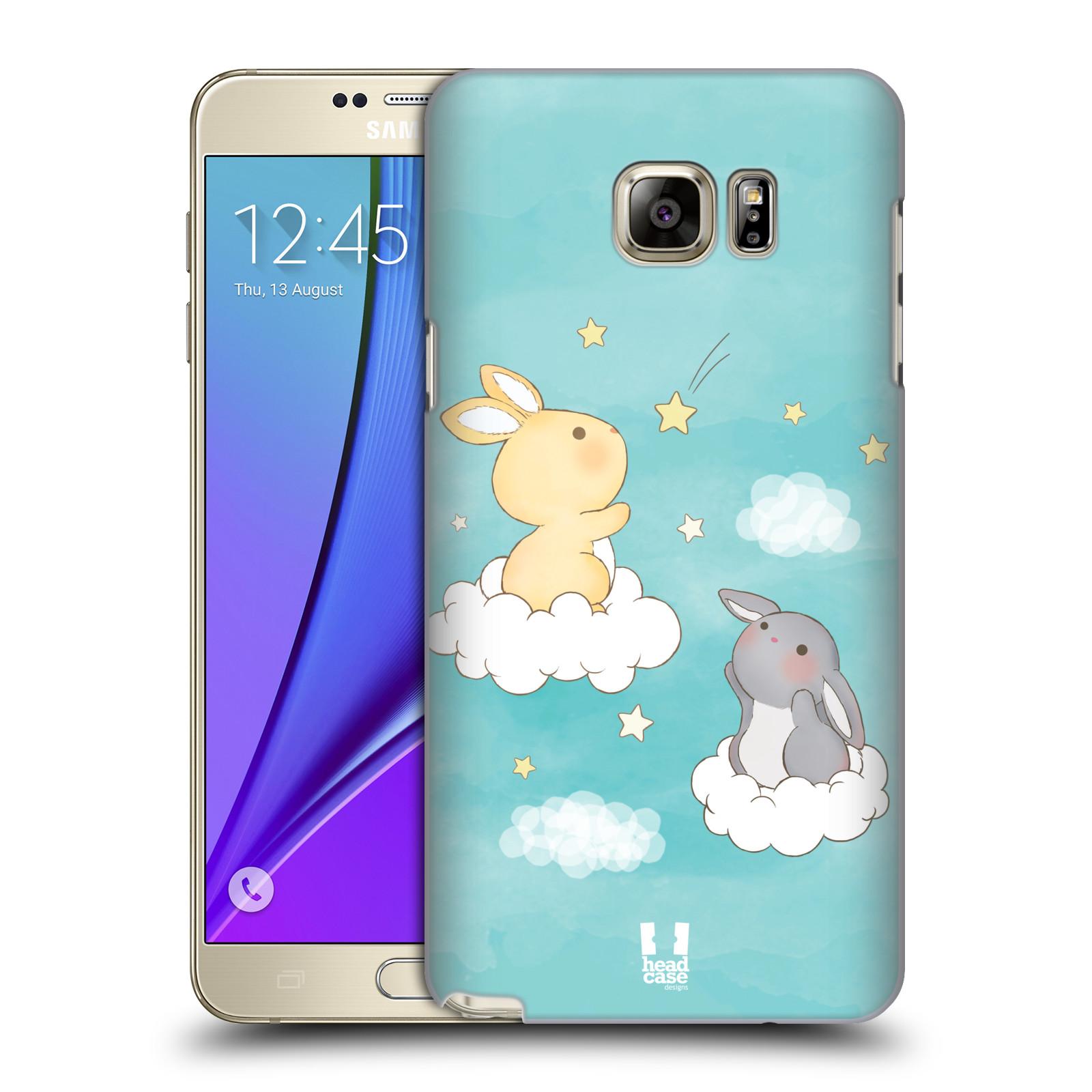 HEAD CASE plastový obal na mobil SAMSUNG Galaxy Note 5 (N920) vzor králíček a hvězdy modrá
