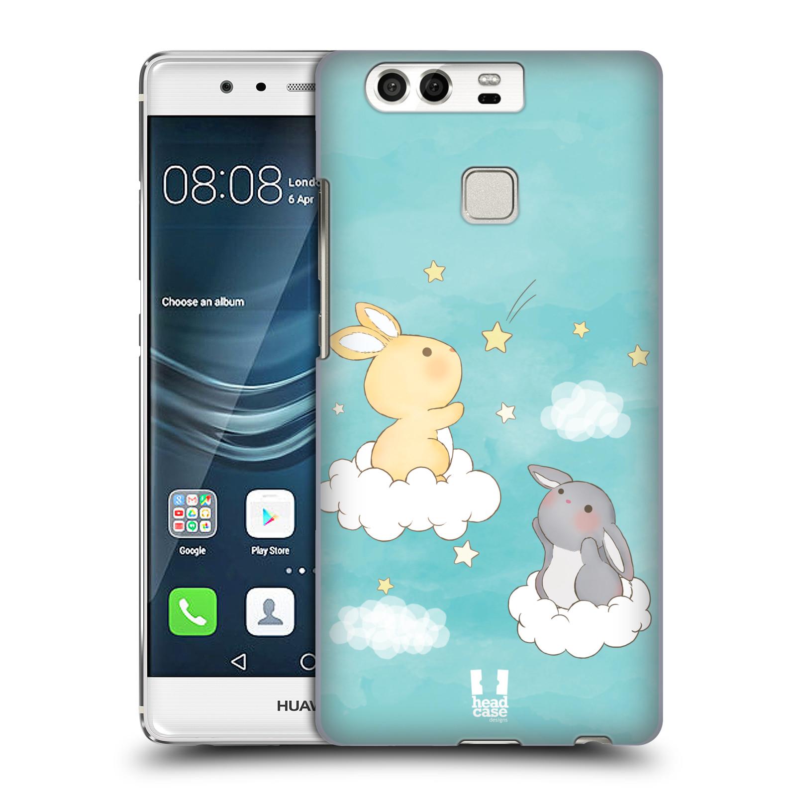 HEAD CASE plastový obal na mobil Huawei P9 / P9 DUAL SIM vzor králíček a hvězdy modrá