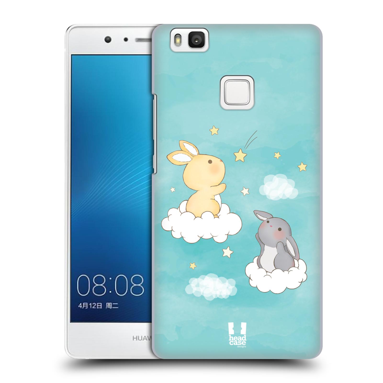 HEAD CASE plastový obal na mobil Huawei P9 LITE / P9 LITE DUAL SIM vzor králíček a hvězdy modrá