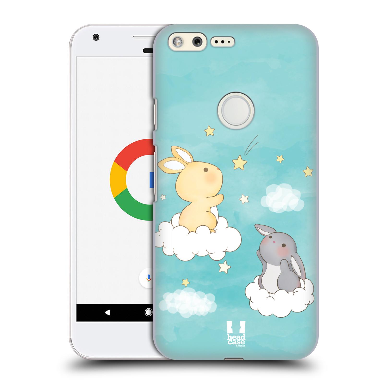 HEAD CASE plastový obal na mobil GOOGLE Pixel vzor králíček a hvězdy modrá
