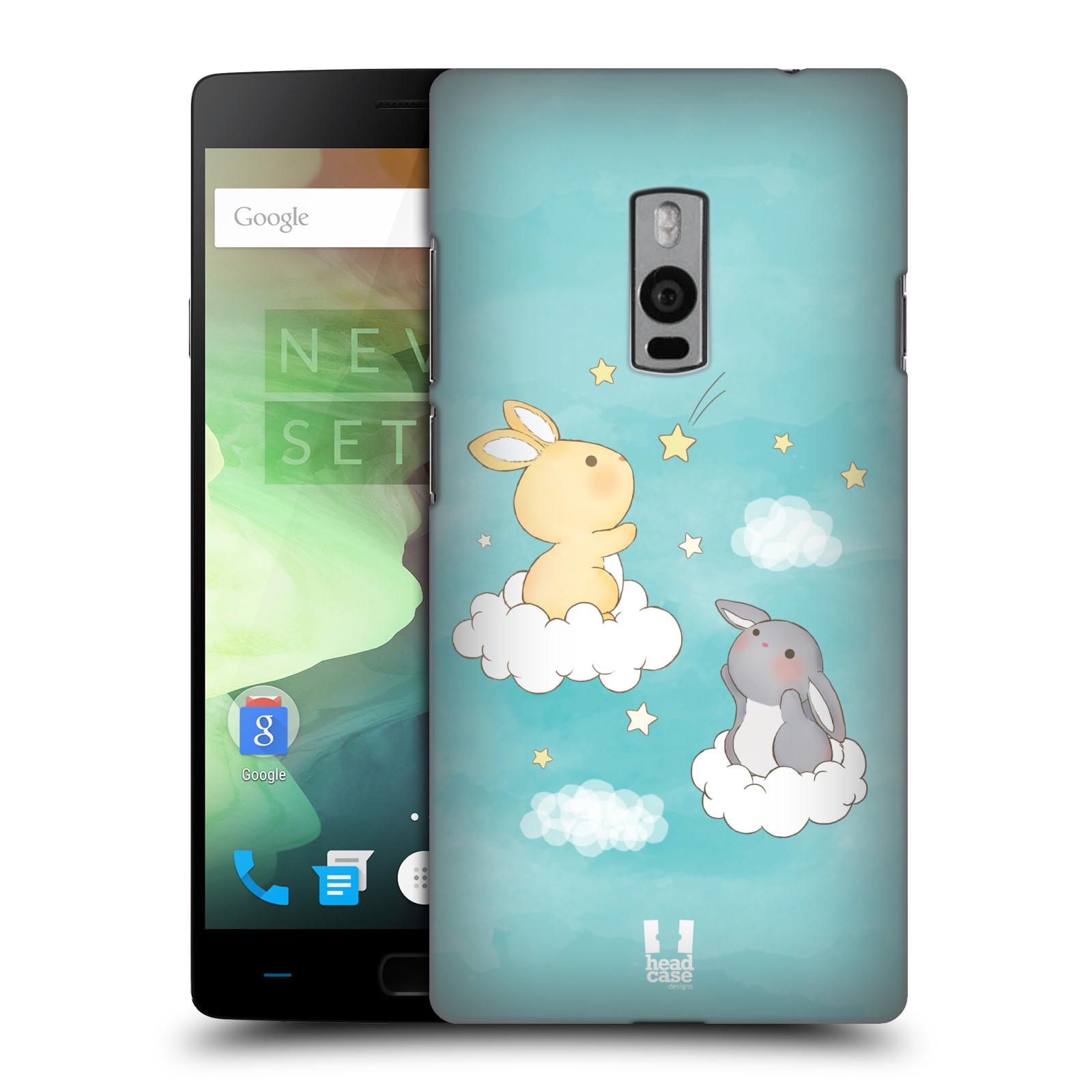 HEAD CASE pevný plastový obal na mobil OnePlus 2  ( TWO ) vzor králíček a hvězdy modrá