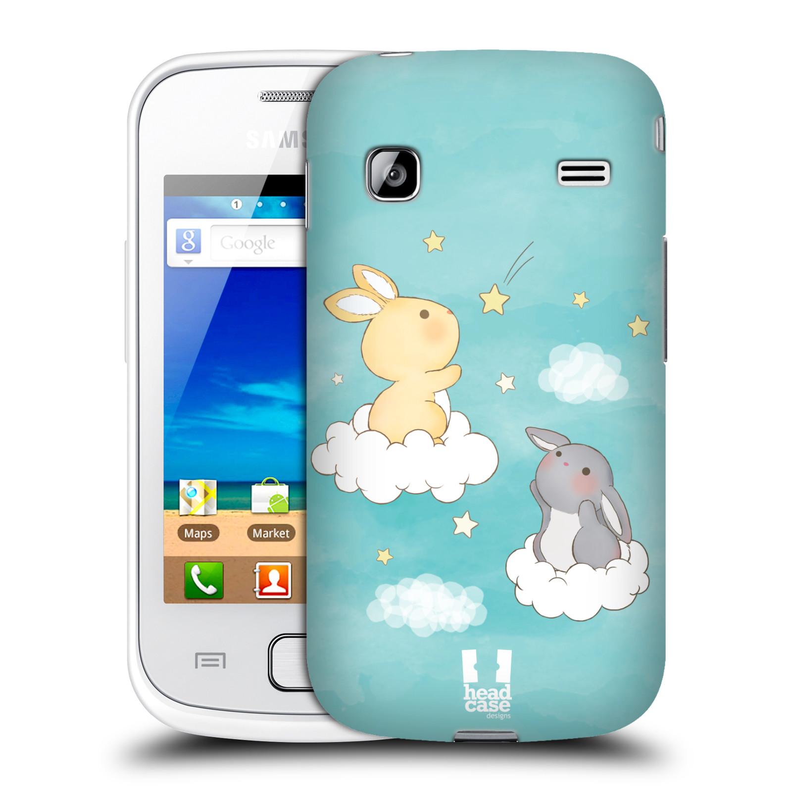 HEAD CASE plastový obal na mobil SAMSUNG GALAXY GIO (S5660) vzor králíček a hvězdy modrá