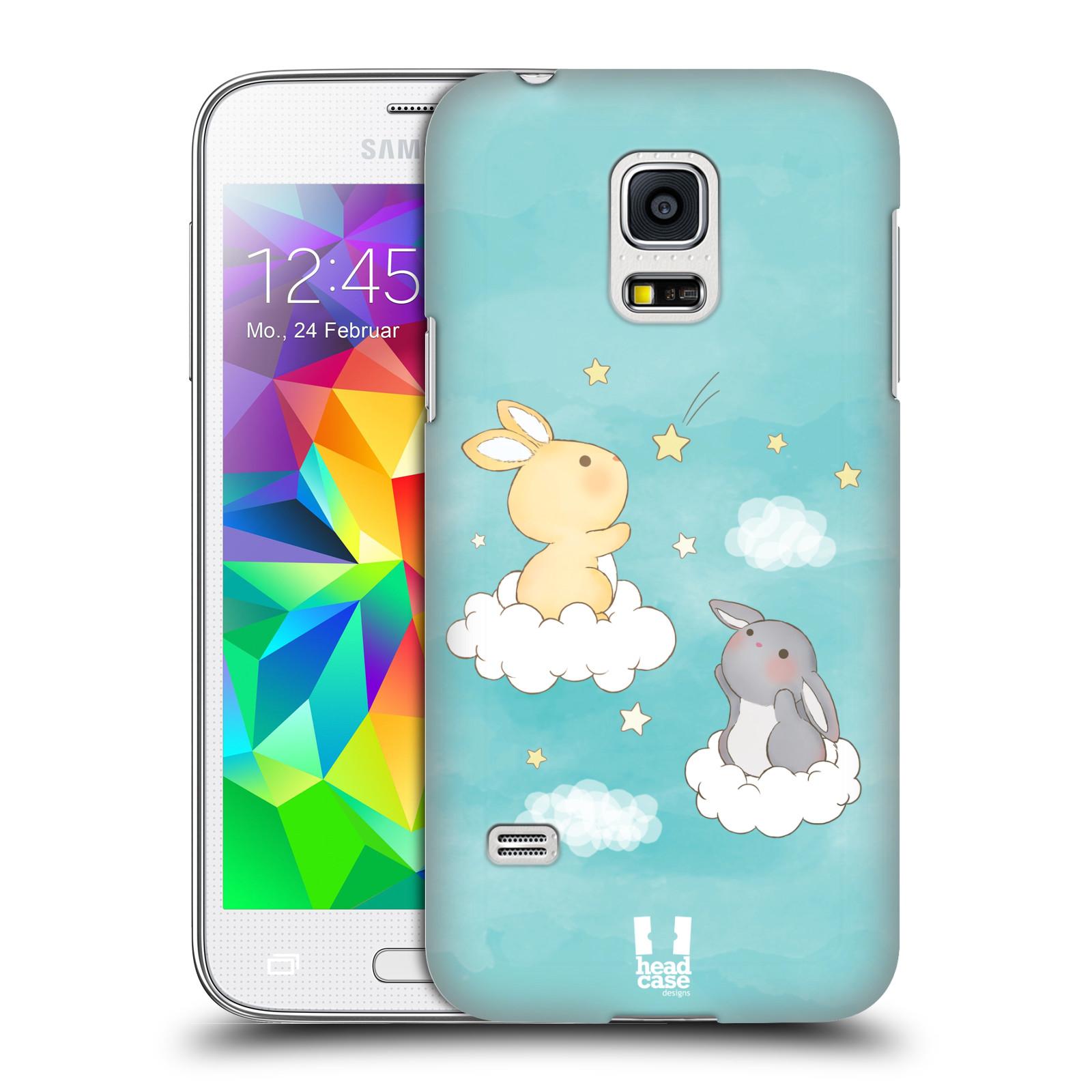 HEAD CASE plastový obal na mobil SAMSUNG Galaxy S5 MINI / S5 MINI DUOS vzor králíček a hvězdy modrá