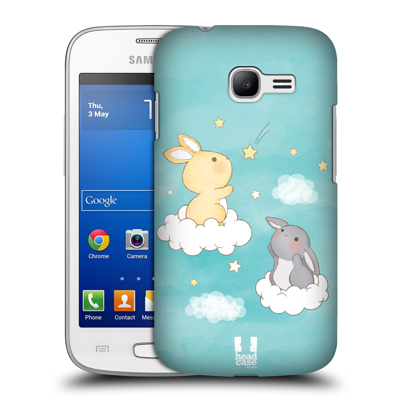 HEAD CASE plastový obal na mobil SAMSUNG GALAXY Star Pro S7260/S7262 DUOS vzor králíček a hvězdy modrá
