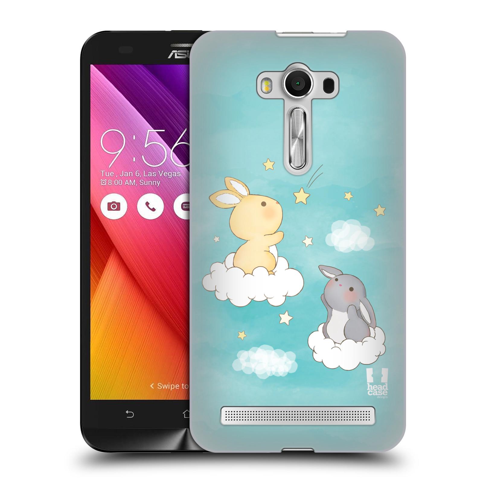 HEAD CASE plastový obal na mobil Asus Zenfone 2 LASER (5,5 displej ZE550KL) vzor králíček a hvězdy modrá