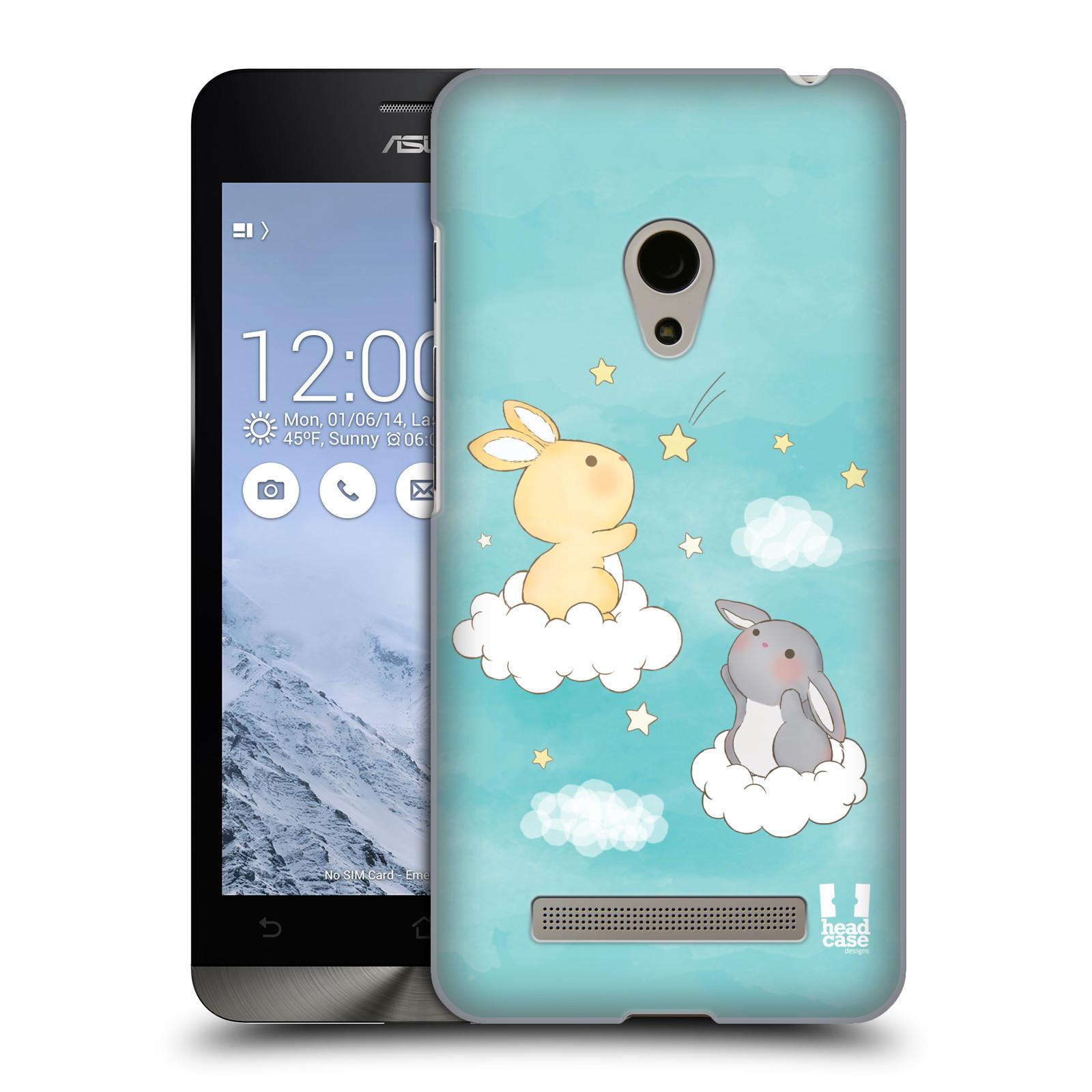 HEAD CASE plastový obal na mobil Asus Zenfone 5 vzor králíček a hvězdy modrá