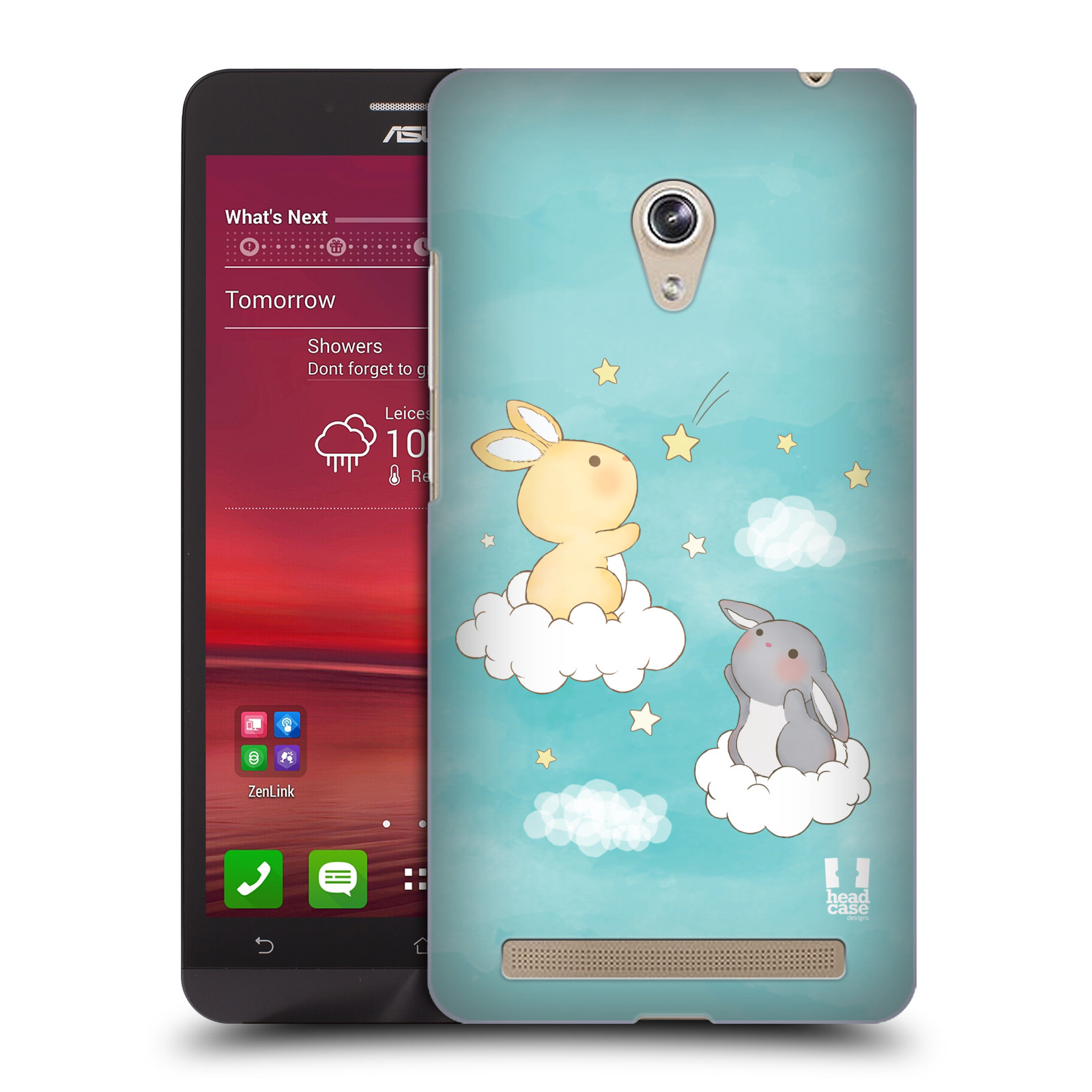 HEAD CASE plastový obal na mobil Asus Zenfone 6 vzor králíček a hvězdy modrá