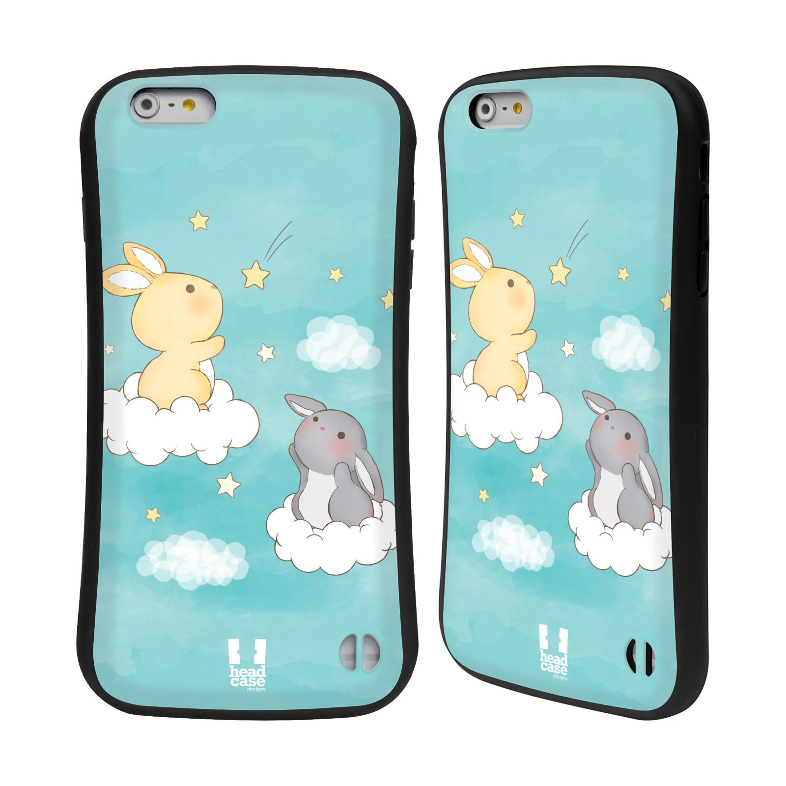 HEAD CASE silikon/plast odolný obal na mobil Apple Iphone 6 PLUS / 6S PLUS vzor králíček a hvězdy modrá
