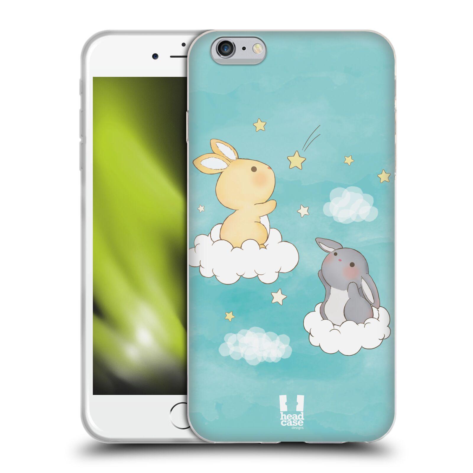 HEAD CASE silikonový obal na mobil Apple Iphone 6 PLUS/ 6S PLUS vzor králíček a hvězdy modrá