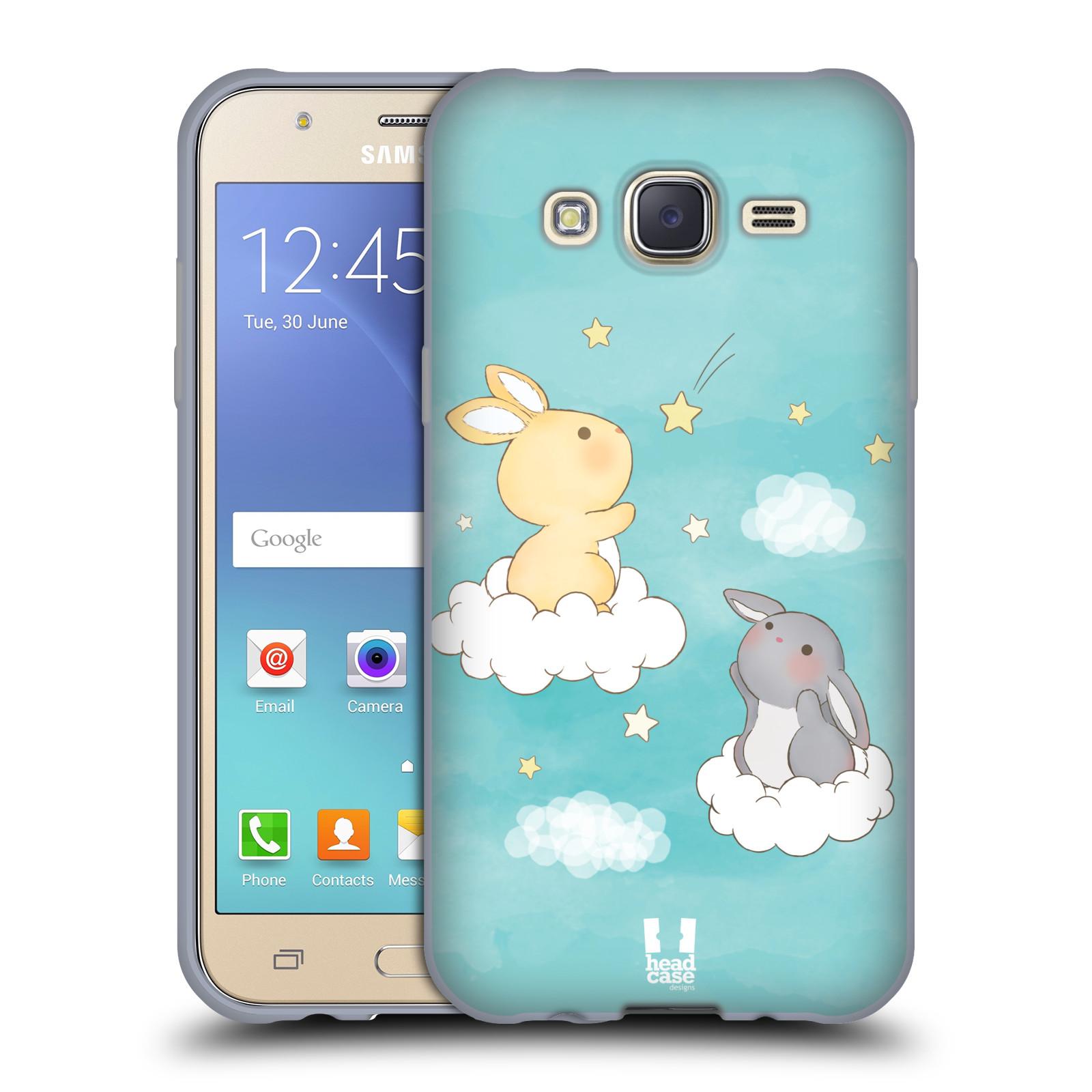 HEAD CASE silikonový obal na mobil Samsung Galaxy J5, J500, (J5 DUOS) vzor králíček a hvězdy modrá