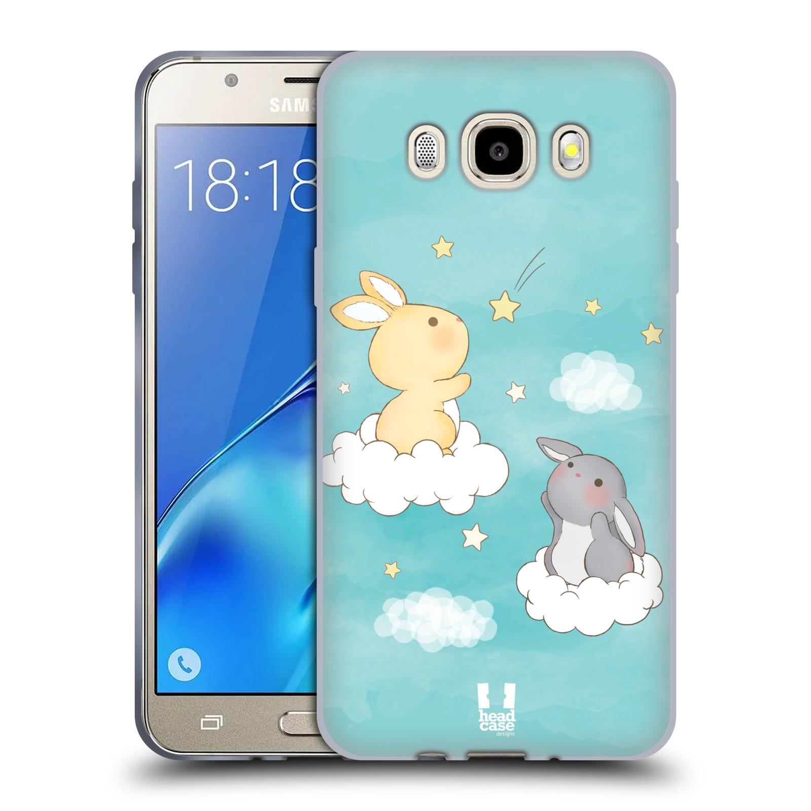HEAD CASE silikonový obal, kryt na mobil Samsung Galaxy J5 2016, J510, J510F, (J510F DUAL SIM) vzor králíček a hvězdy modrá