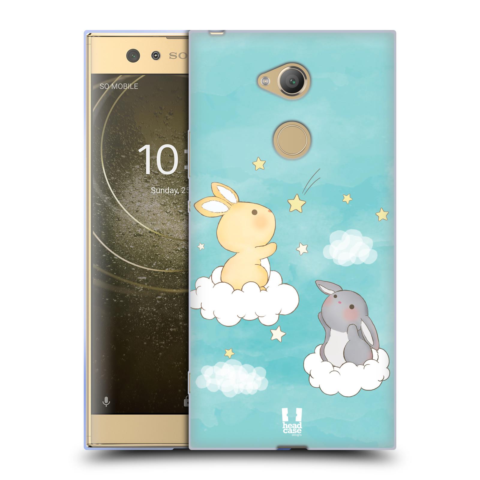 Pouzdro na mobil Sony Xperia XA2 Ultra vzor králíček a hvězdy modrá