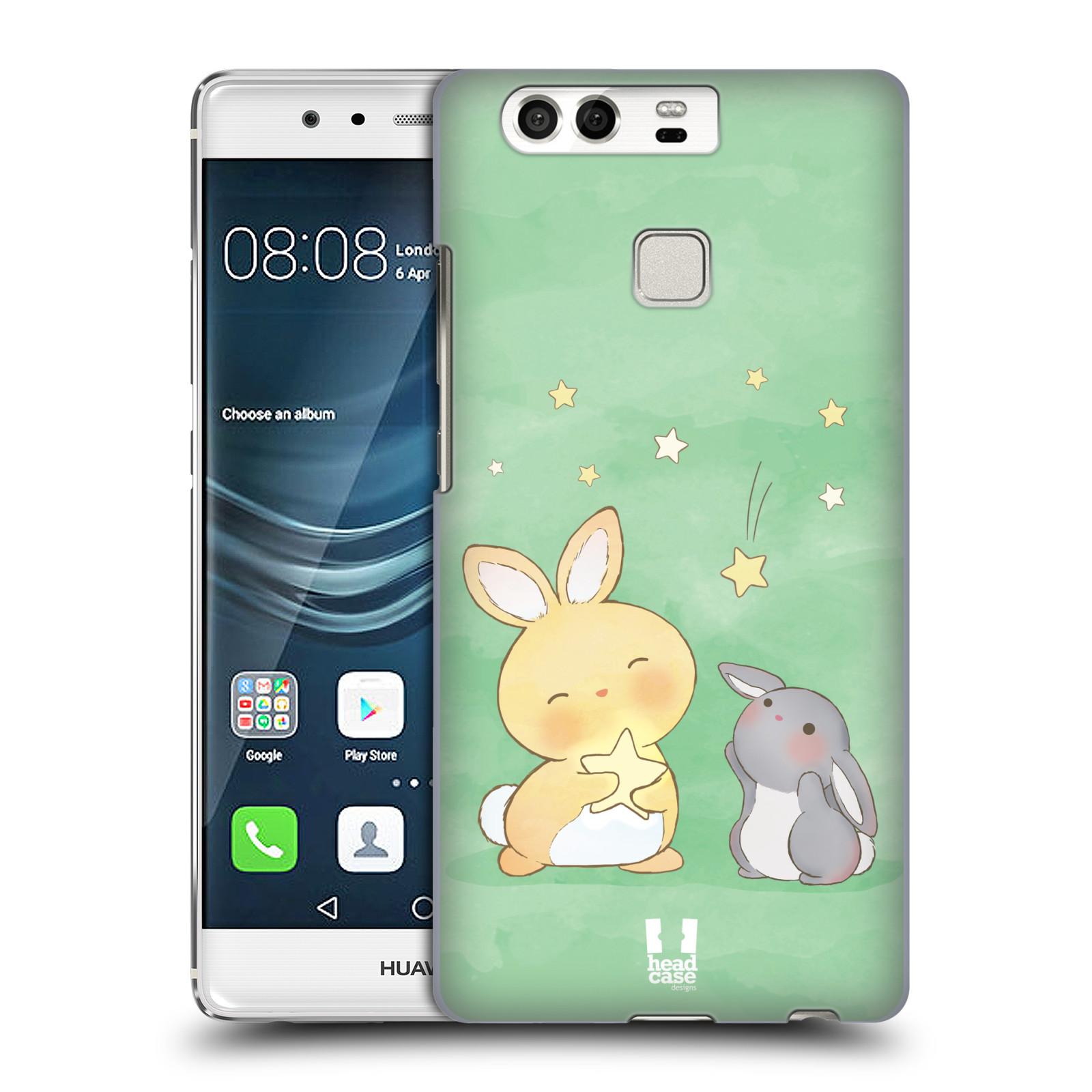 HEAD CASE plastový obal na mobil Huawei P9 / P9 DUAL SIM vzor králíček a hvězdy zelená
