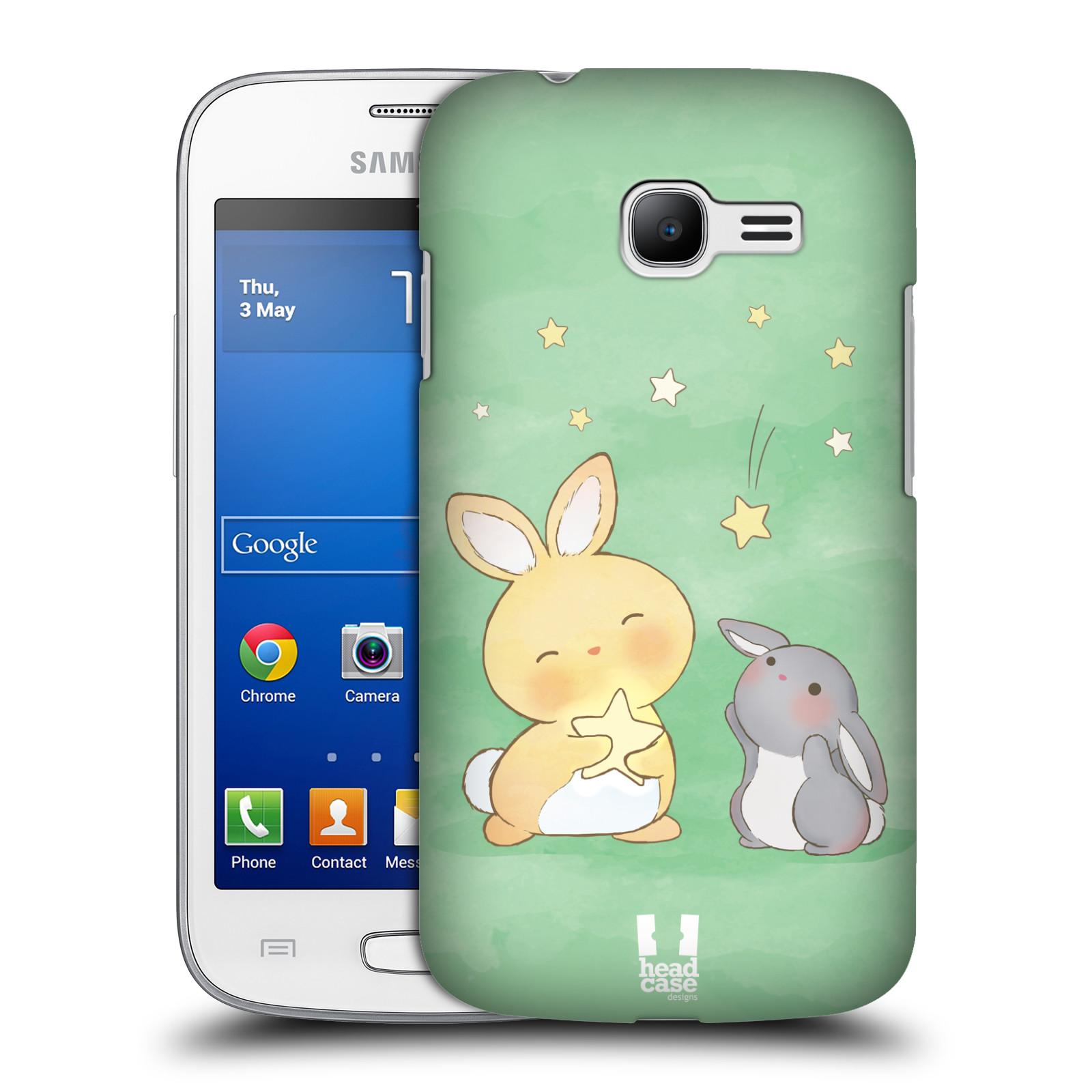 HEAD CASE plastový obal na mobil SAMSUNG GALAXY Star Pro S7260/S7262 DUOS vzor králíček a hvězdy zelená