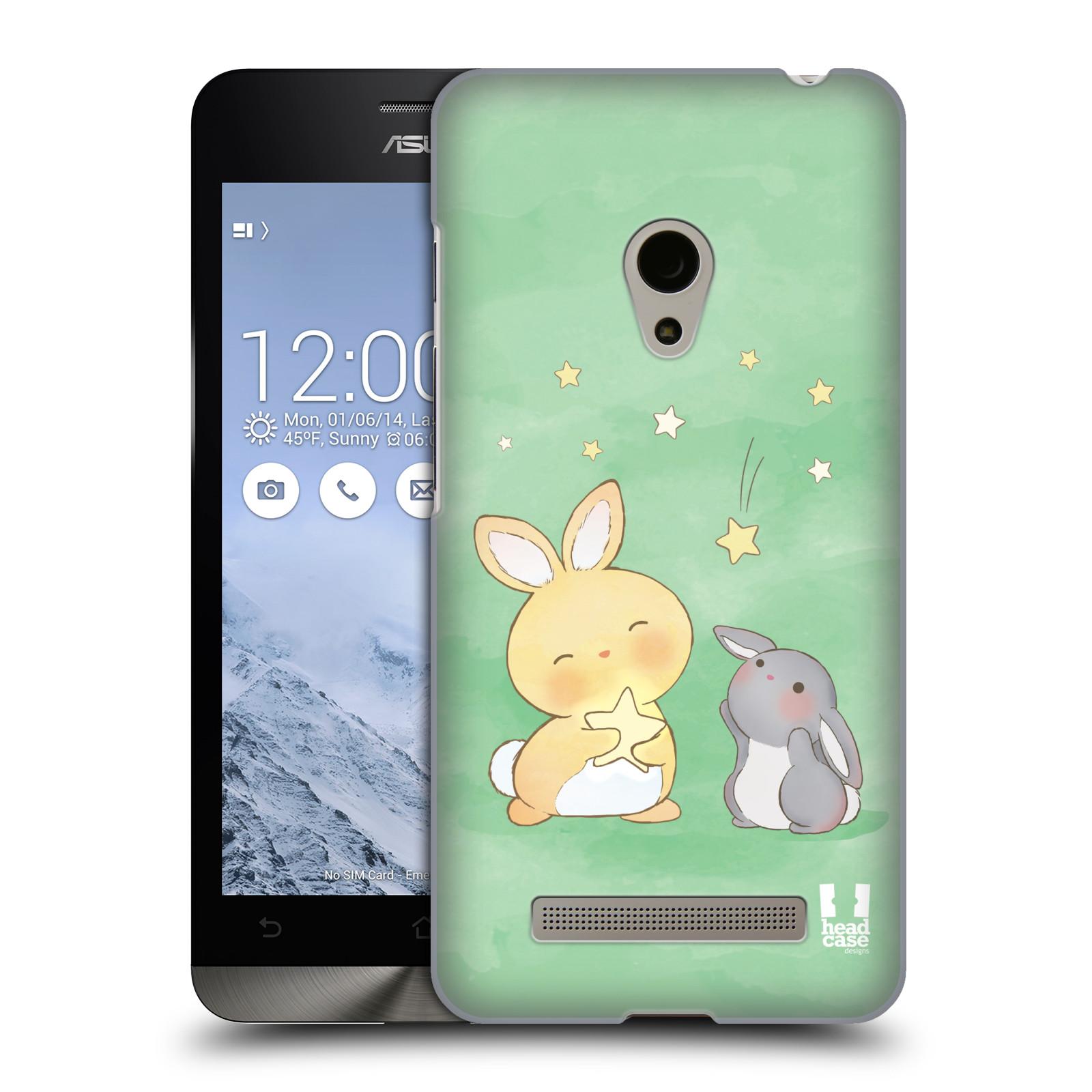 HEAD CASE plastový obal na mobil Asus Zenfone 5 vzor králíček a hvězdy zelená