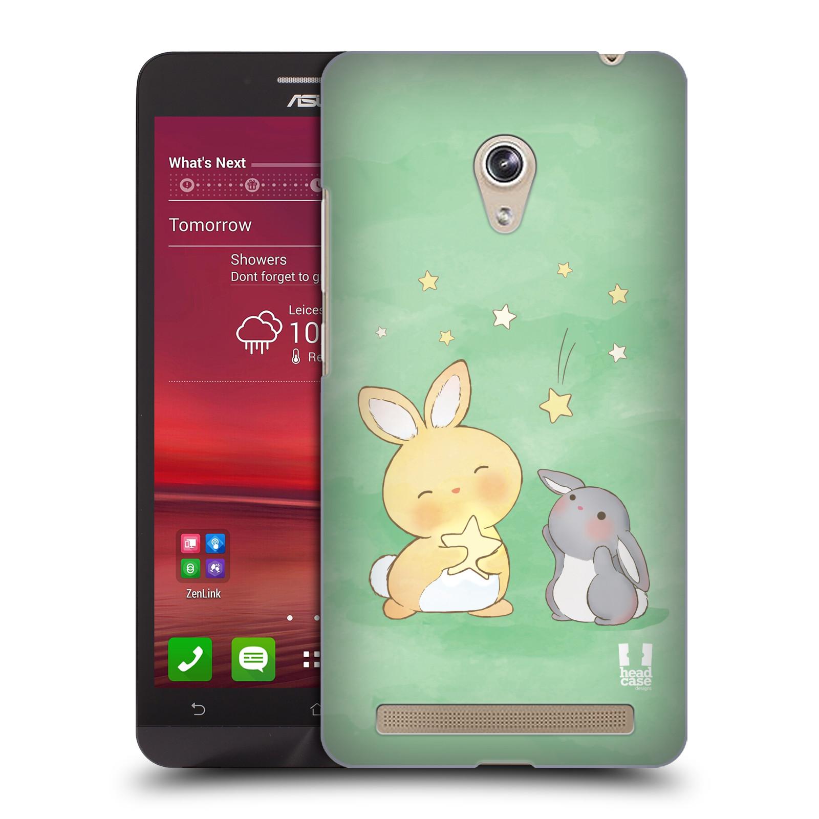 HEAD CASE plastový obal na mobil Asus Zenfone 6 vzor králíček a hvězdy zelená