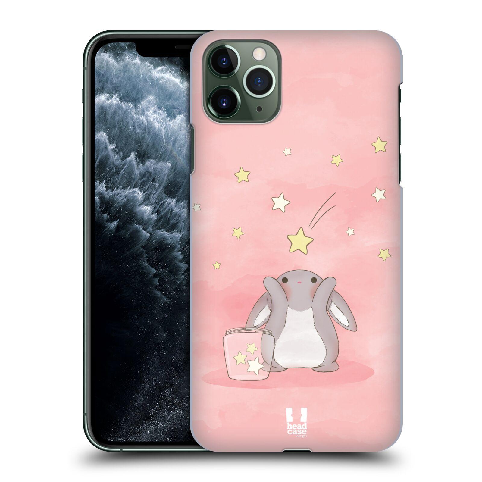 Pouzdro na mobil Apple Iphone 11 PRO MAX - HEAD CASE - vzor králíček a hvězdy růžová