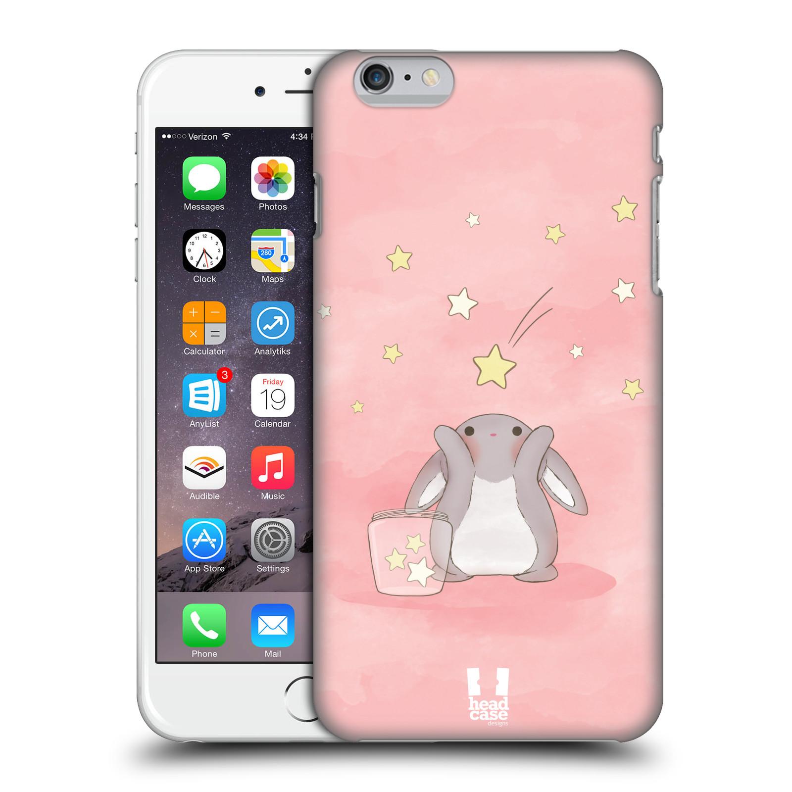 Plastové pouzdro pro mobil Apple Iphone 6 PLUS / 6S PLUS vzor králíček a hvězdy růžová