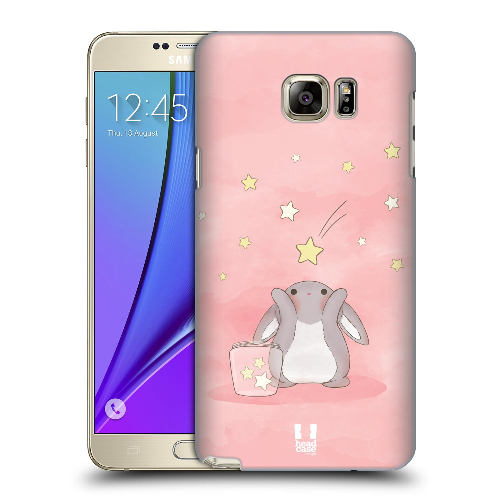 HEAD CASE plastový obal na mobil SAMSUNG Galaxy Note 5 (N920) vzor králíček a hvězdy růžová