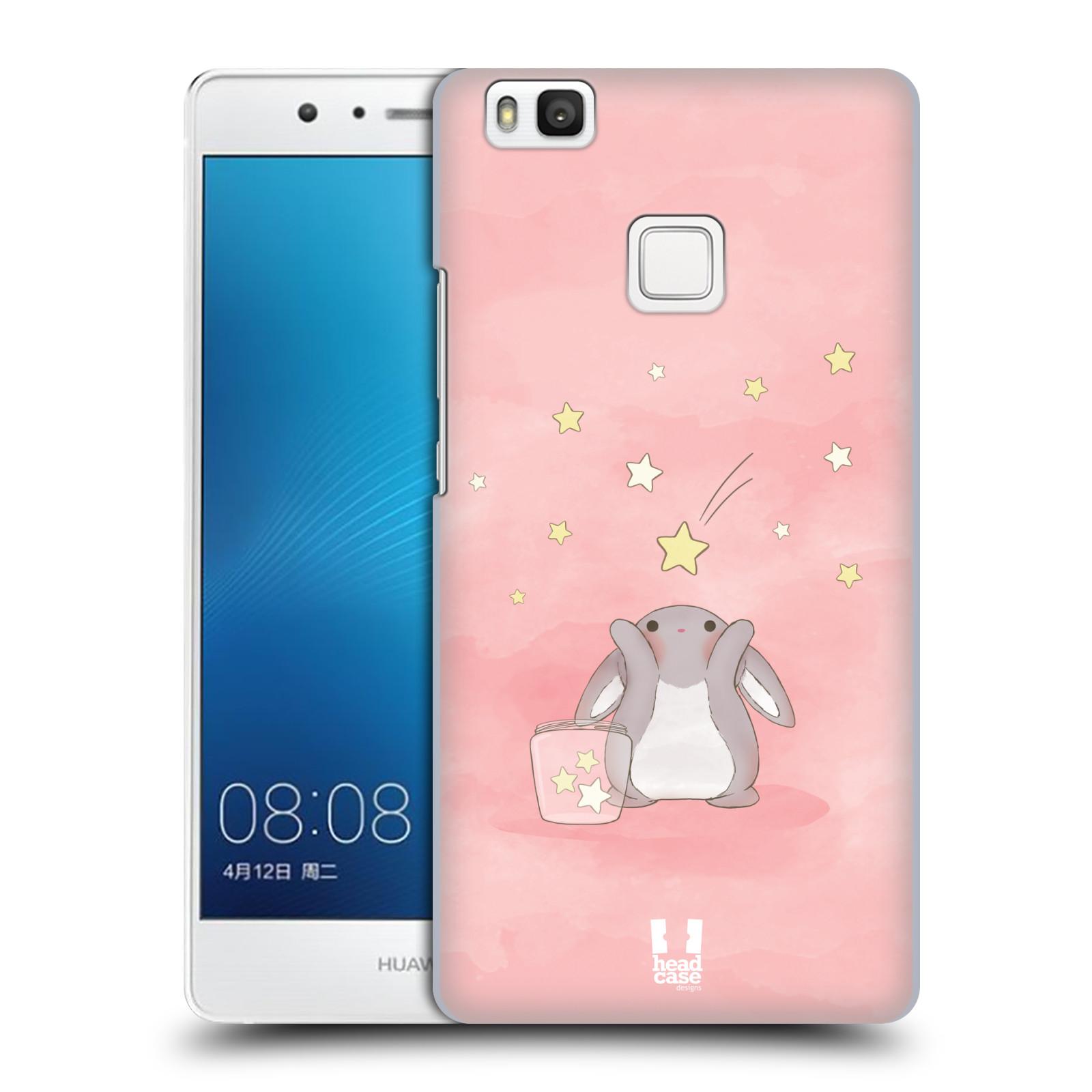 HEAD CASE plastový obal na mobil Huawei P9 LITE / P9 LITE DUAL SIM vzor králíček a hvězdy růžová