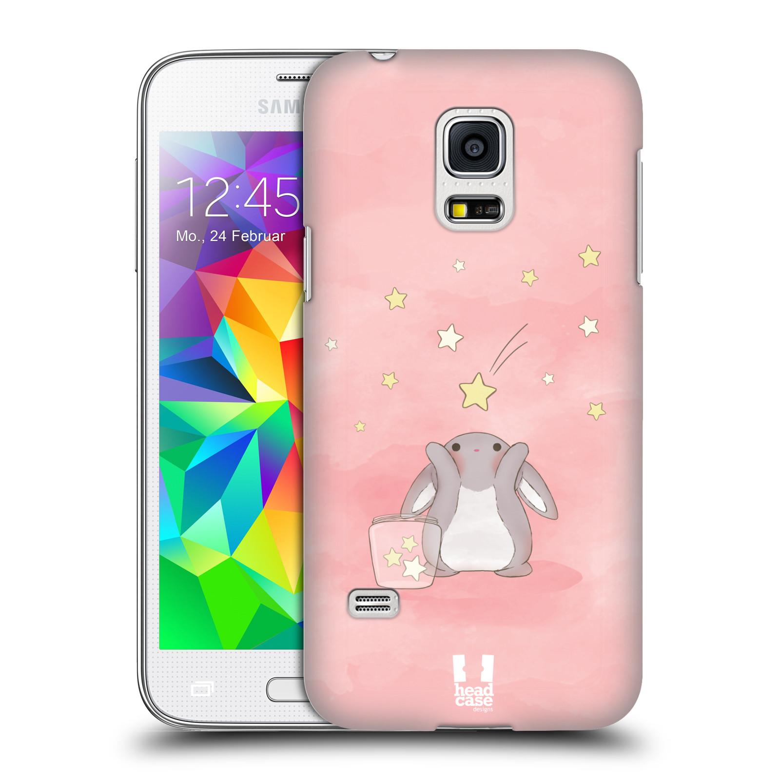 HEAD CASE plastový obal na mobil SAMSUNG Galaxy S5 MINI / S5 MINI DUOS vzor králíček a hvězdy růžová