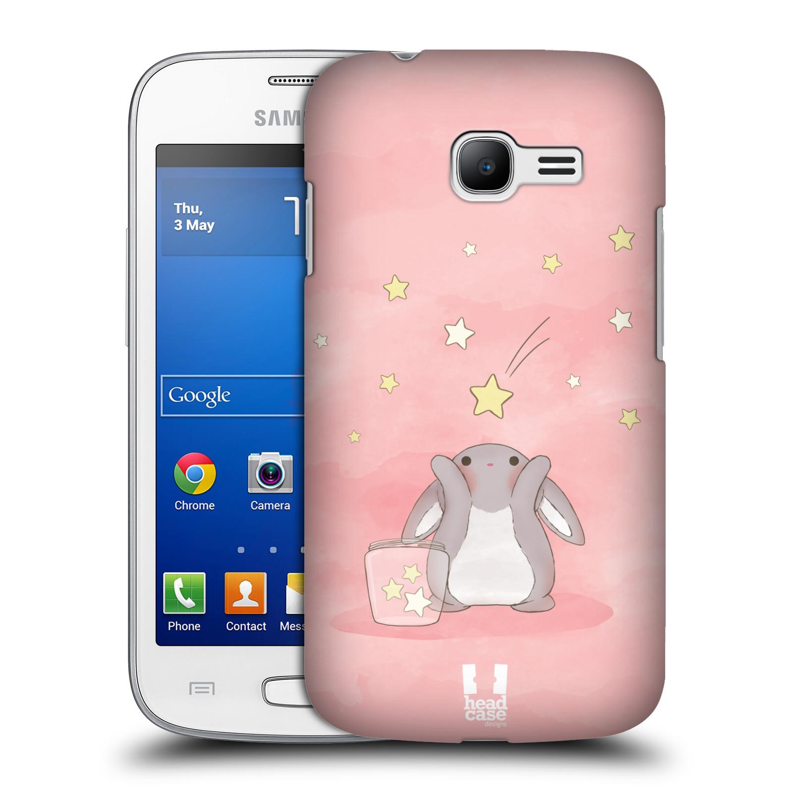 HEAD CASE plastový obal na mobil SAMSUNG GALAXY Star Pro S7260/S7262 DUOS vzor králíček a hvězdy růžová