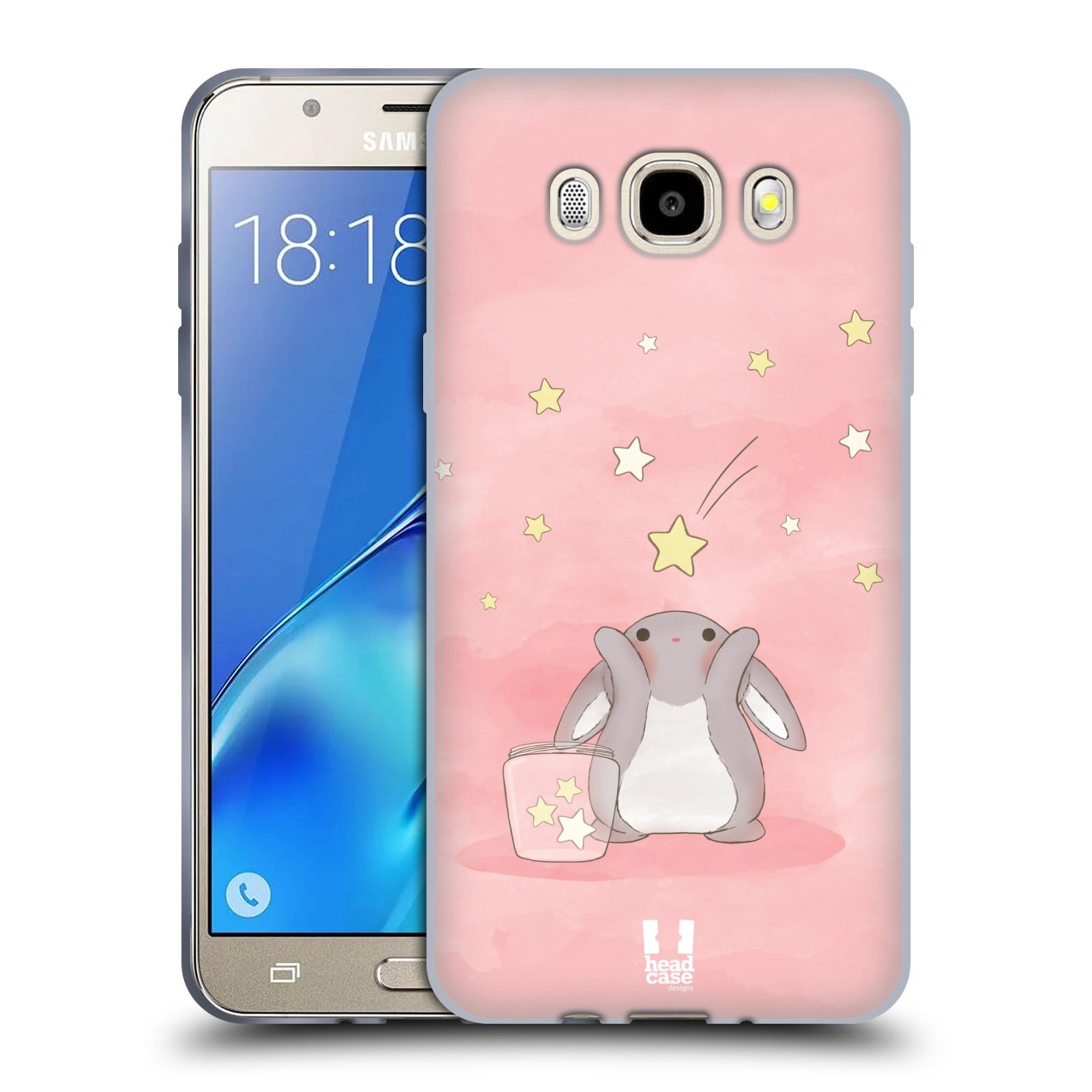 HEAD CASE silikonový obal, kryt na mobil Samsung Galaxy J5 2016, J510, J510F, (J510F DUAL SIM) vzor králíček a hvězdy růžová