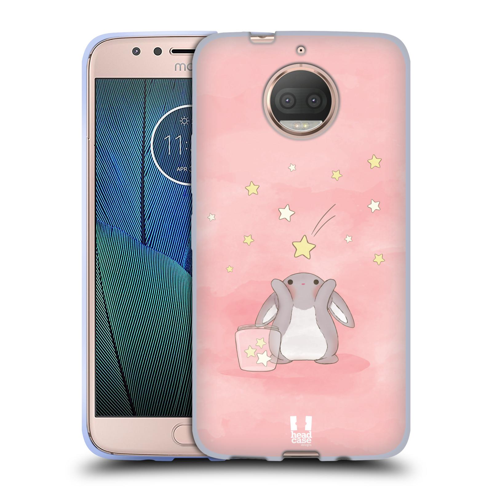 HEAD CASE silikonový obal na mobil Lenovo Moto G5s PLUS vzor králíček a hvězdy růžová