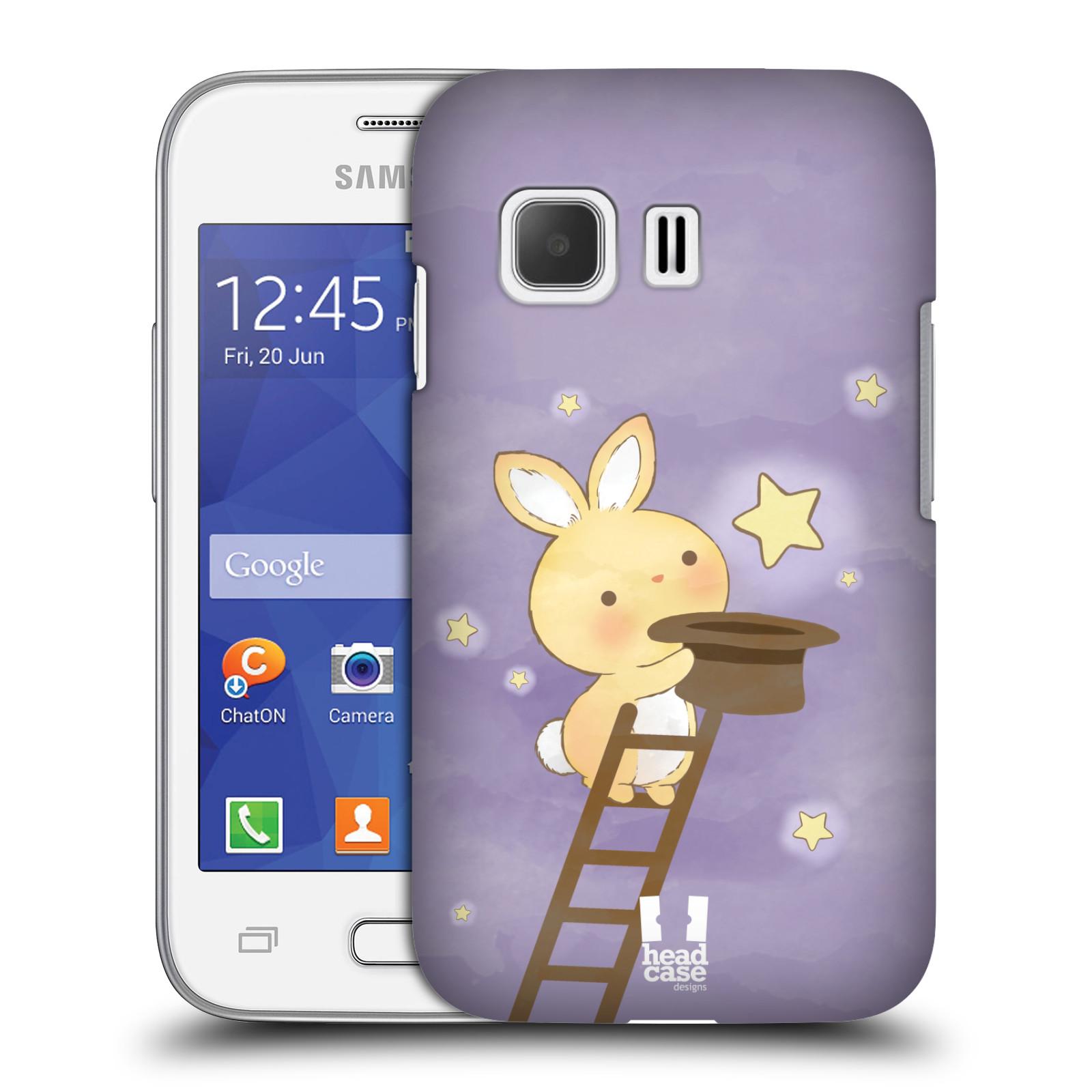 HEAD CASE plastový obal na mobil SAMSUNG Galaxy Young 2 (G130) vzor králíček a hvězdy fialová