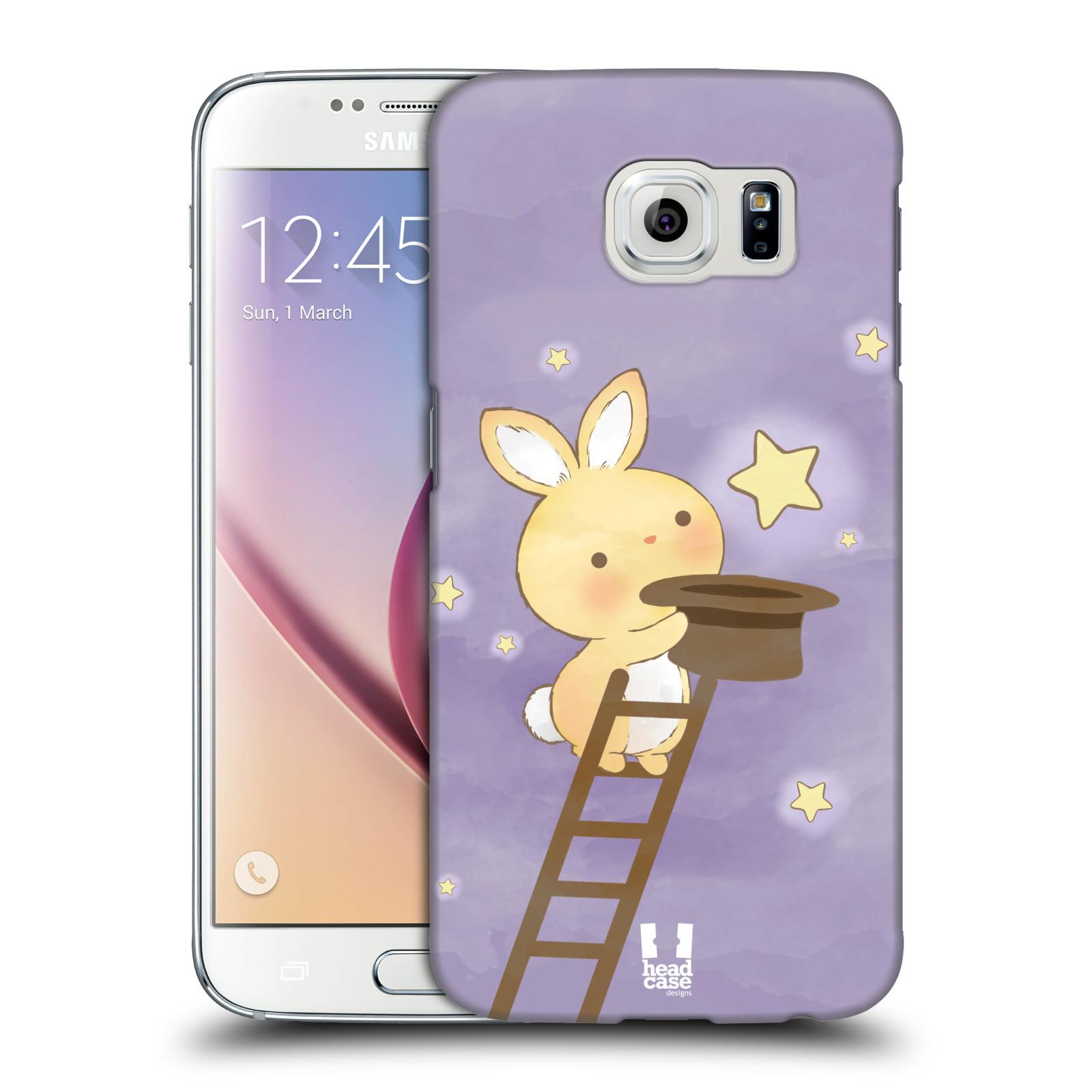 HEAD CASE plastový obal na mobil SAMSUNG Galaxy S6 (G9200, G920F) vzor králíček a hvězdy fialová