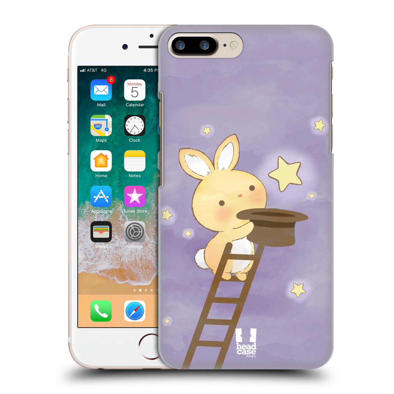 HEAD CASE plastový obal na mobil Apple Iphone 7 PLUS vzor králíček a hvězdy fialová