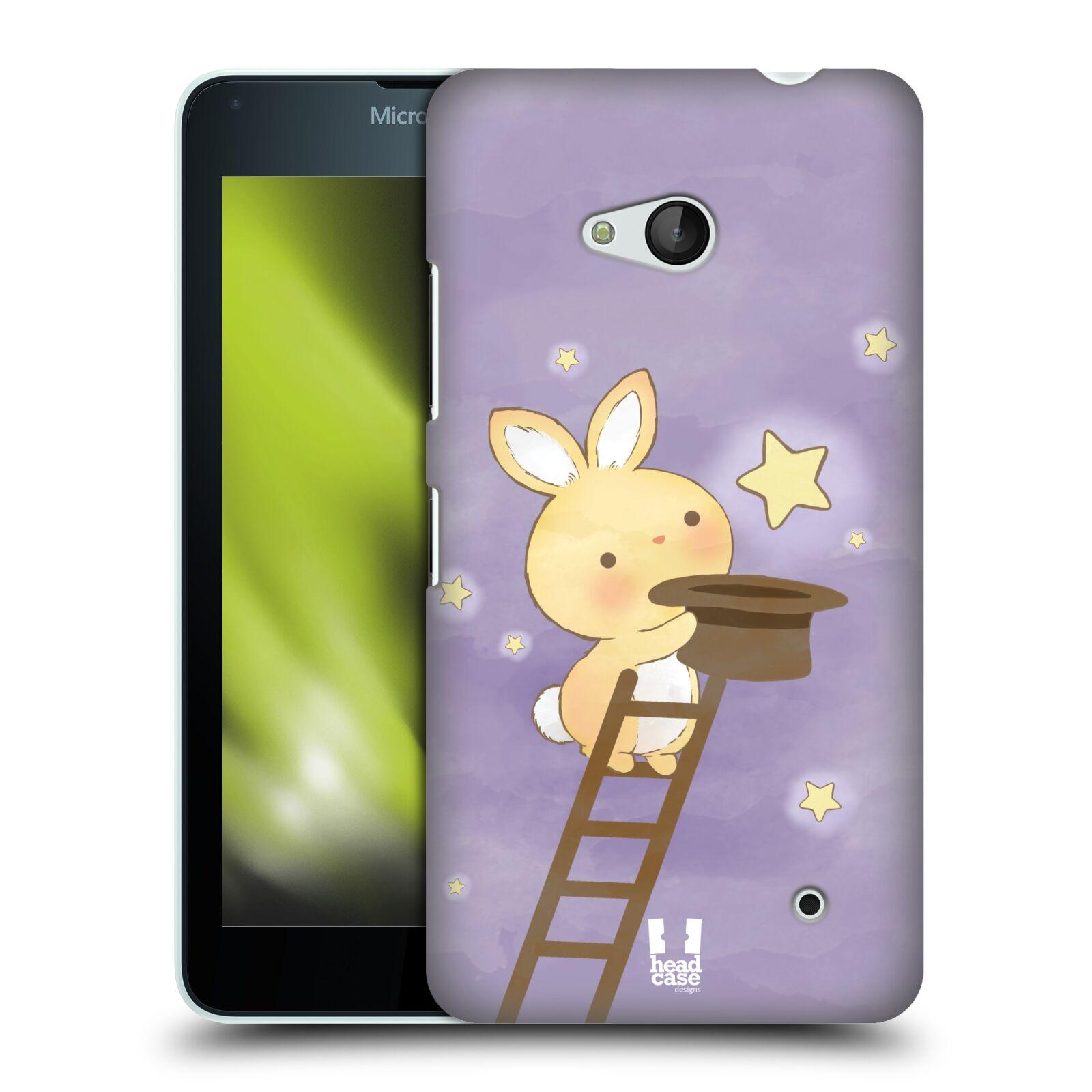 HEAD CASE plastový obal na mobil Nokia Lumia 640 vzor králíček a hvězdy fialová