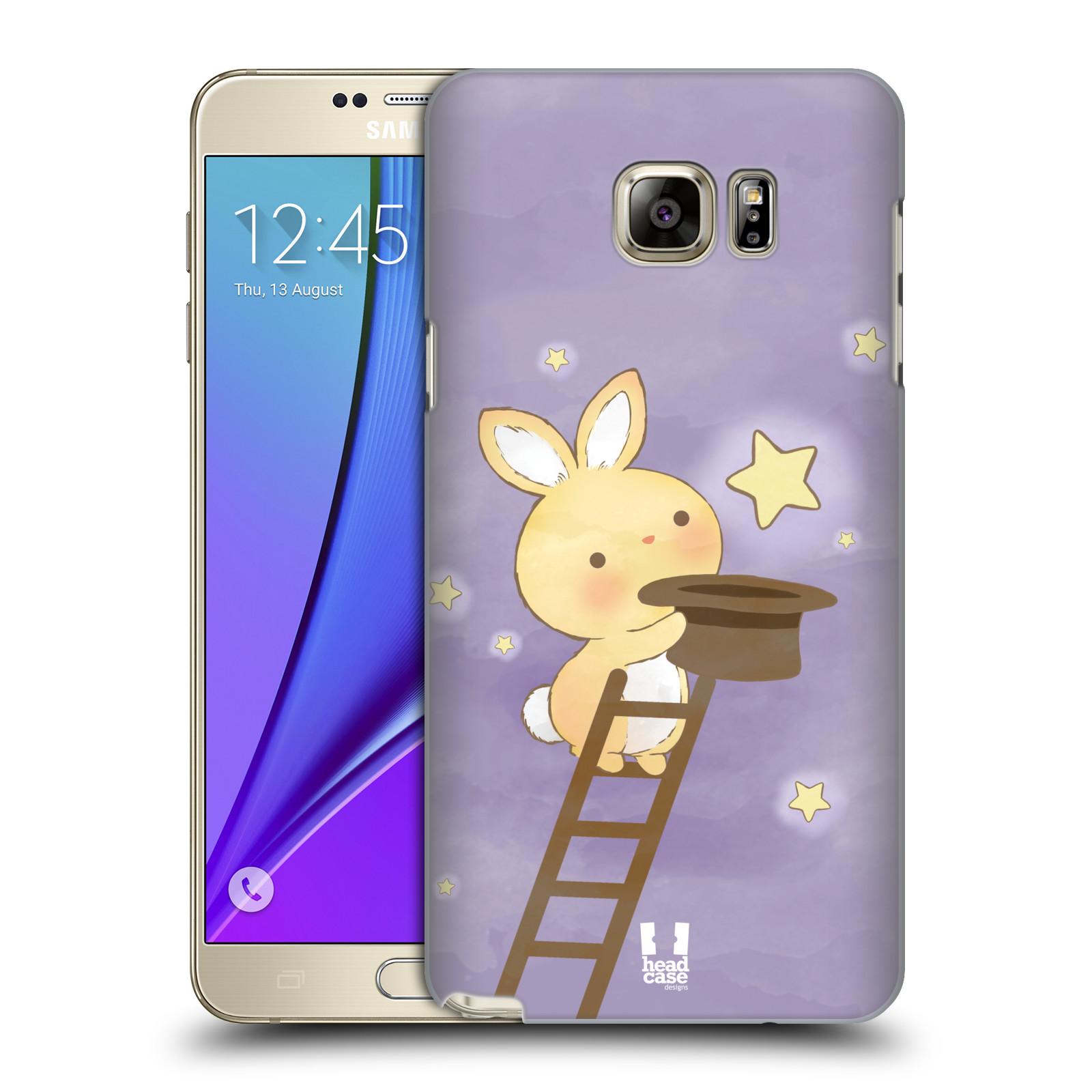 HEAD CASE plastový obal na mobil SAMSUNG Galaxy Note 5 (N920) vzor králíček a hvězdy fialová
