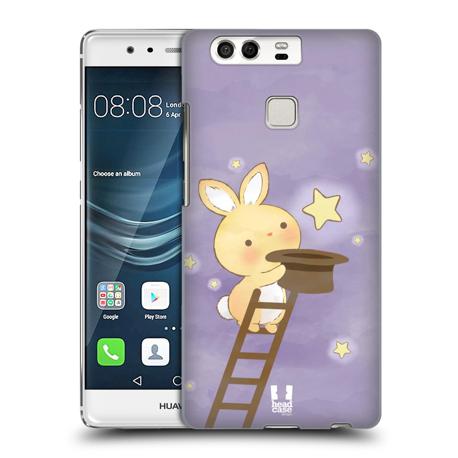 HEAD CASE plastový obal na mobil Huawei P9 / P9 DUAL SIM vzor králíček a hvězdy fialová