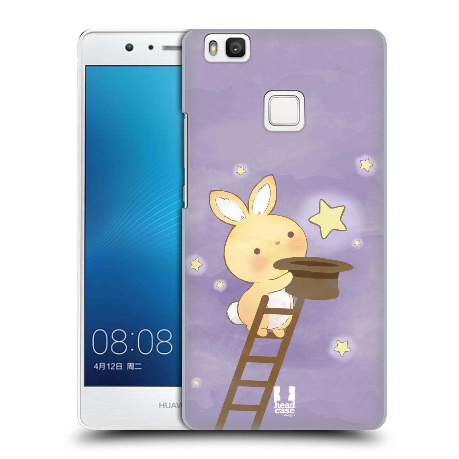 HEAD CASE plastový obal na mobil Huawei P9 LITE / P9 LITE DUAL SIM vzor králíček a hvězdy fialová