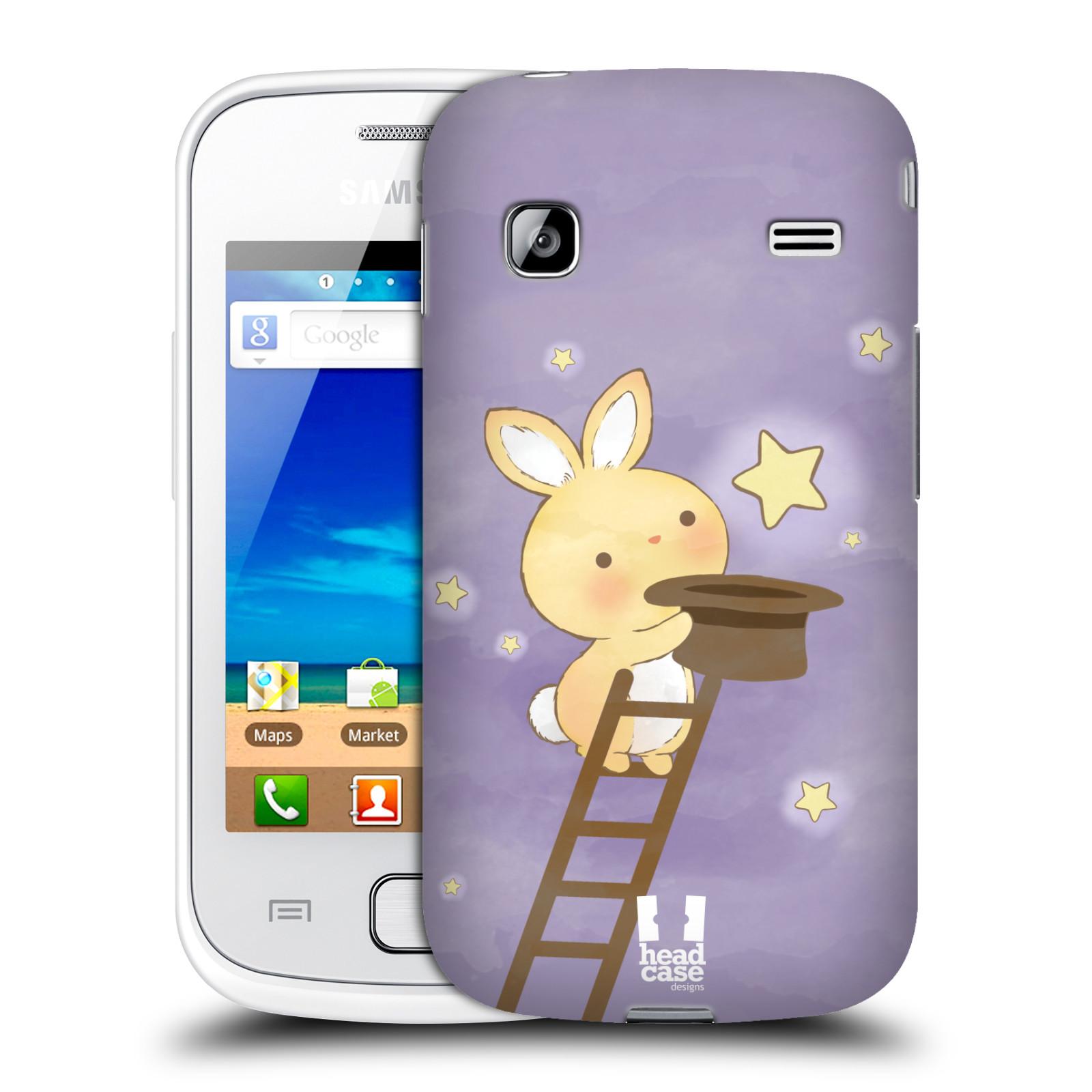 HEAD CASE plastový obal na mobil SAMSUNG GALAXY GIO (S5660) vzor králíček a hvězdy fialová