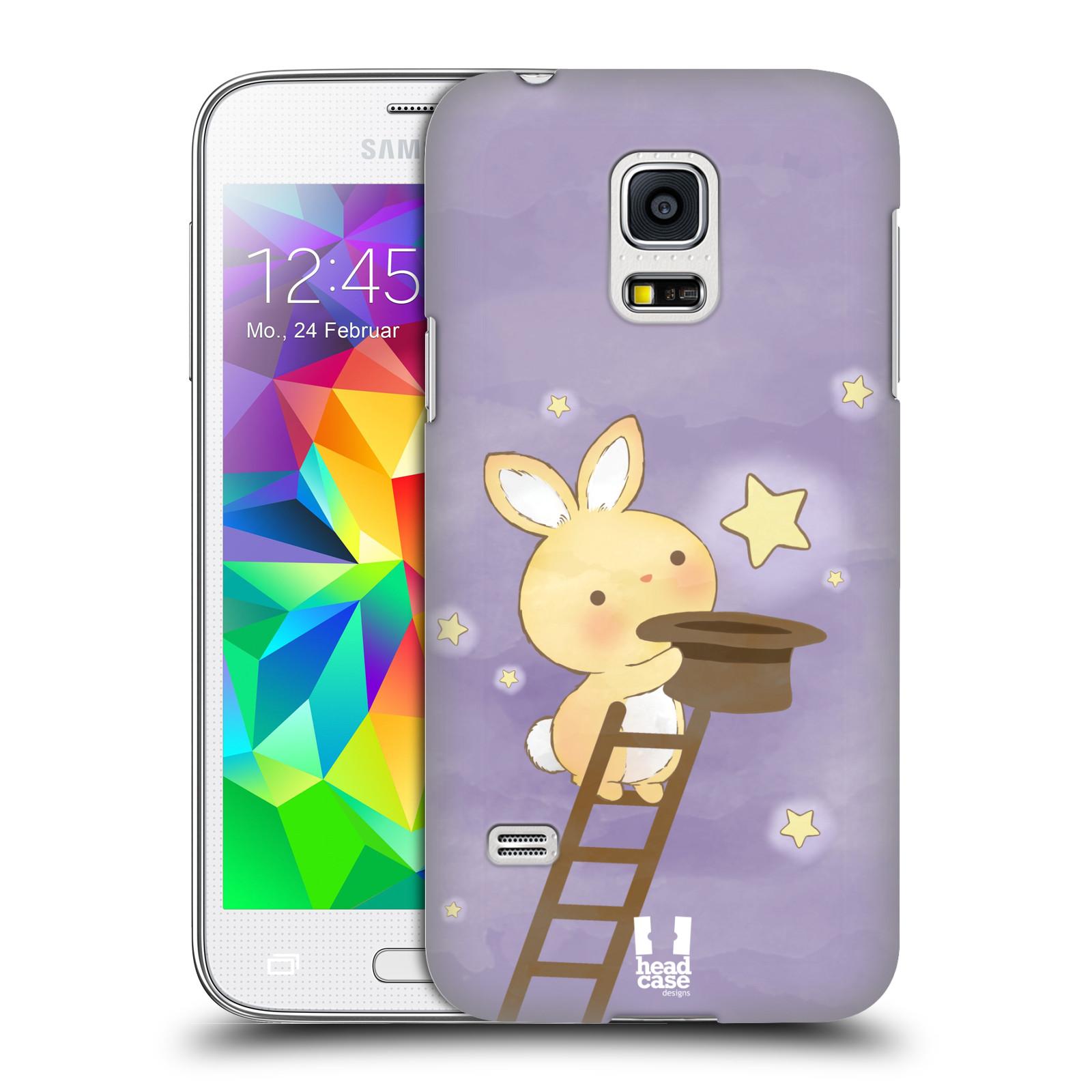 HEAD CASE plastový obal na mobil SAMSUNG Galaxy S5 MINI / S5 MINI DUOS vzor králíček a hvězdy fialová