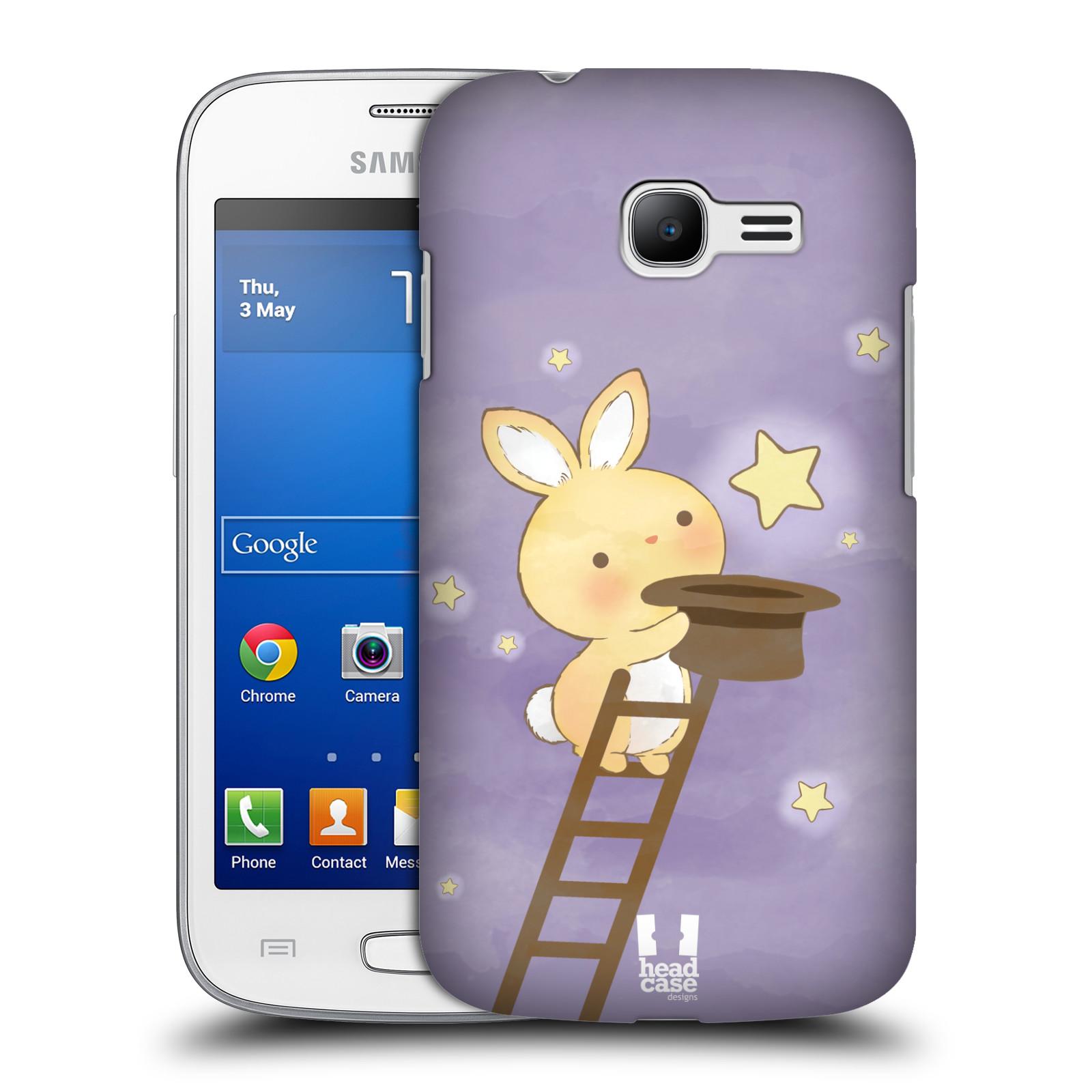 HEAD CASE plastový obal na mobil SAMSUNG GALAXY Star Pro S7260/S7262 DUOS vzor králíček a hvězdy fialová