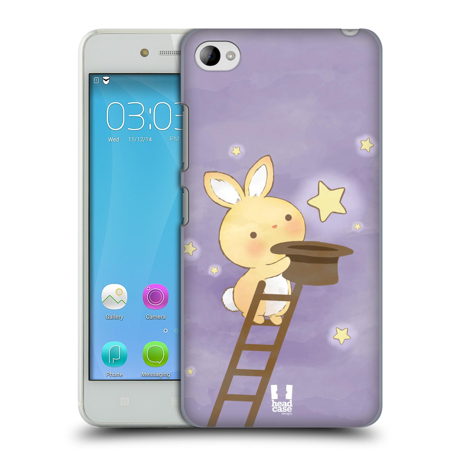 HEAD CASE pevný plastový obal na mobil LENOVO S90 vzor králíček a hvězdy fialová