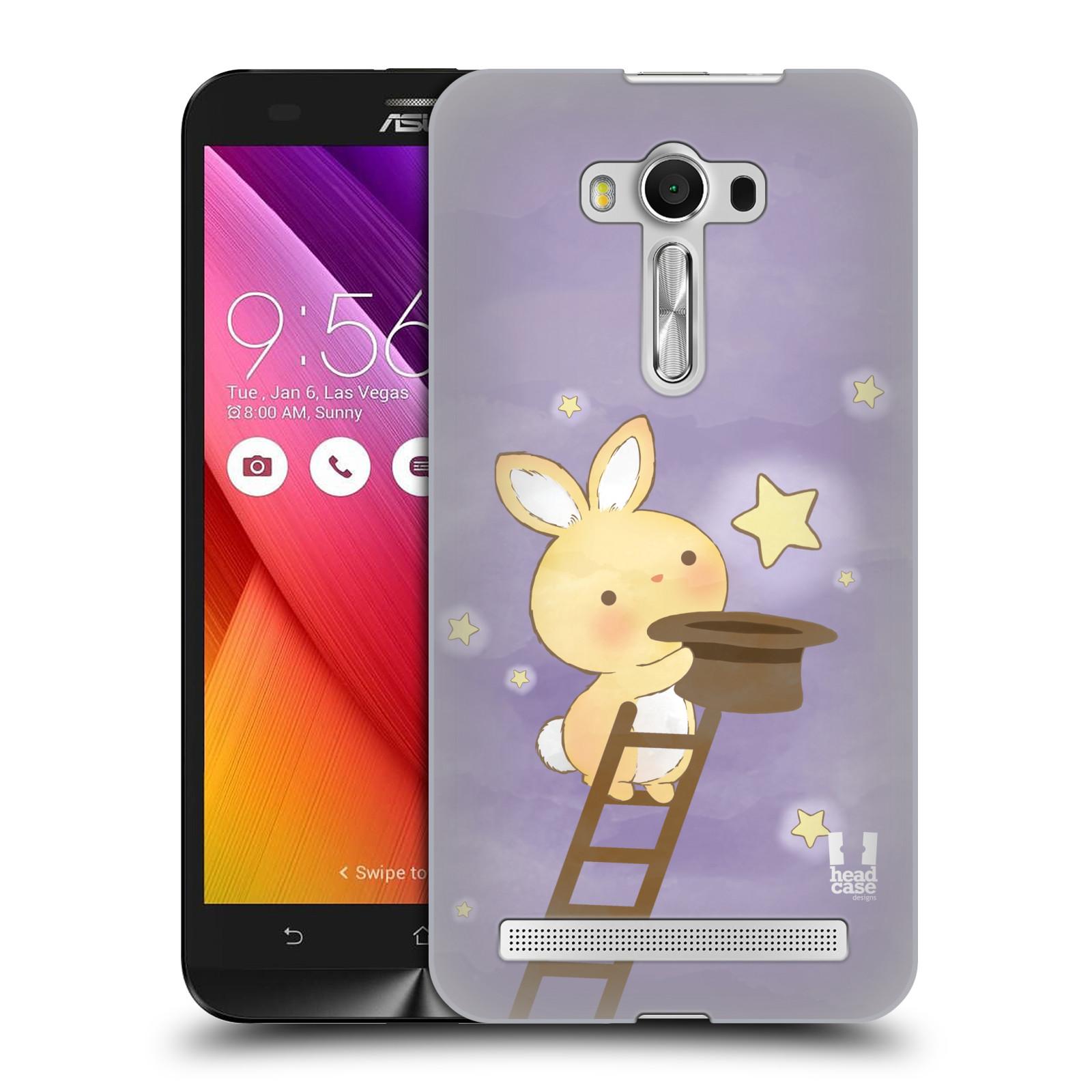 HEAD CASE plastový obal na mobil Asus Zenfone 2 LASER (5,5 displej ZE550KL) vzor králíček a hvězdy fialová
