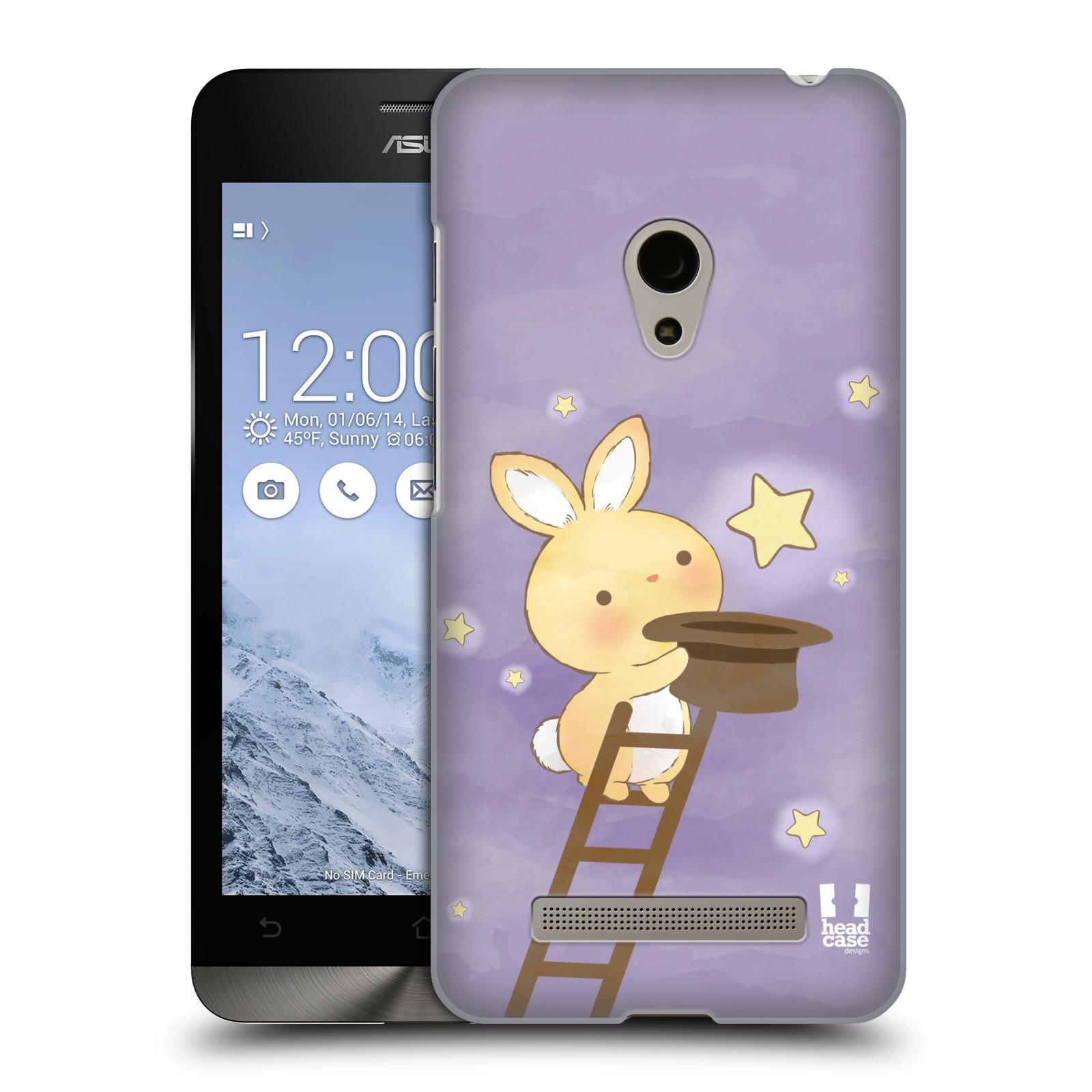 HEAD CASE plastový obal na mobil Asus Zenfone 5 vzor králíček a hvězdy fialová