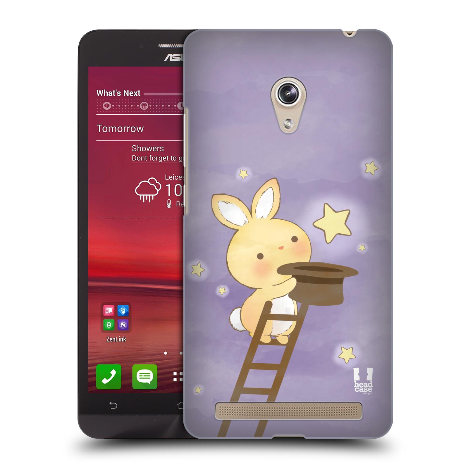 HEAD CASE plastový obal na mobil Asus Zenfone 6 vzor králíček a hvězdy fialová