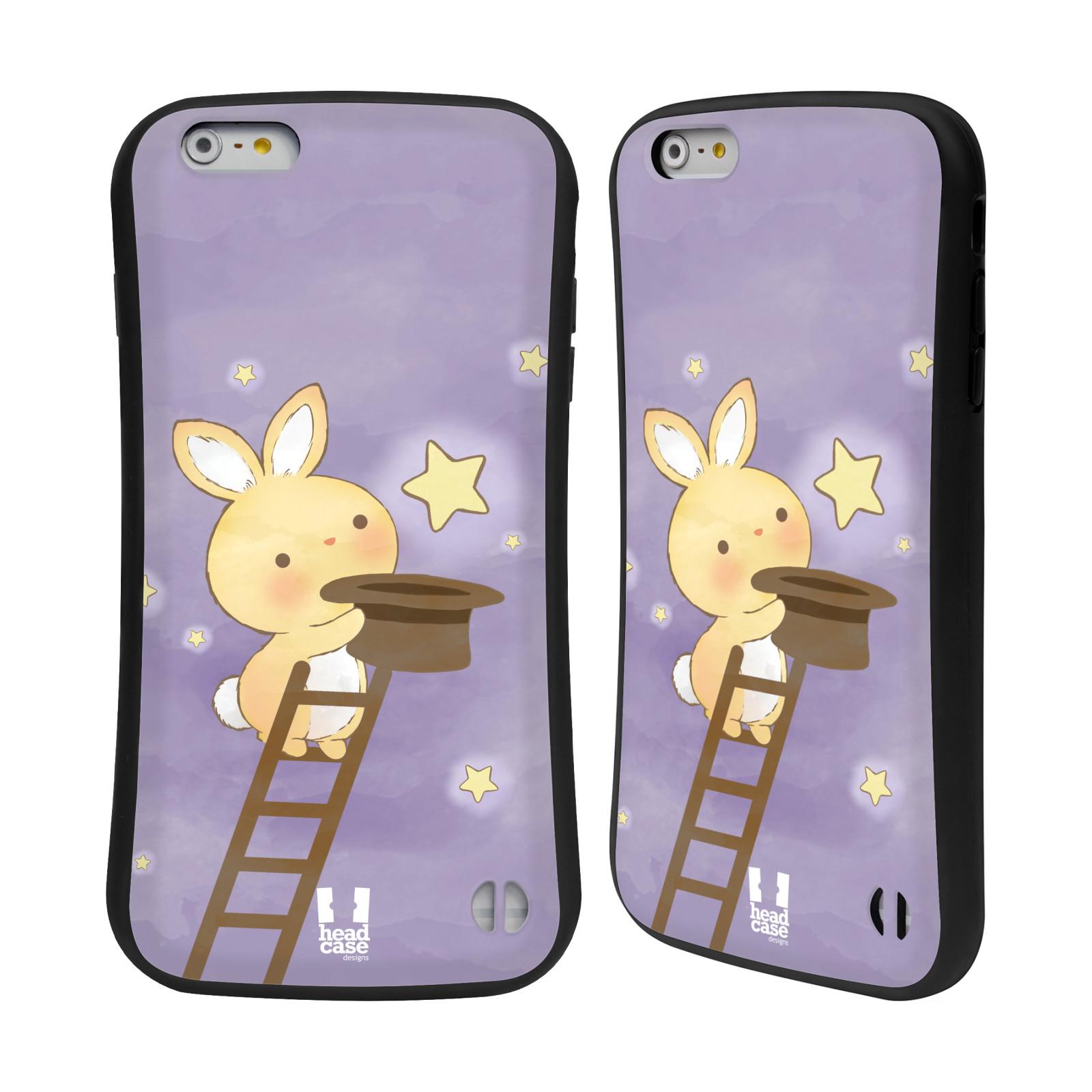 HEAD CASE silikon/plast odolný obal na mobil Apple Iphone 6 PLUS / 6S PLUS vzor králíček a hvězdy fialová